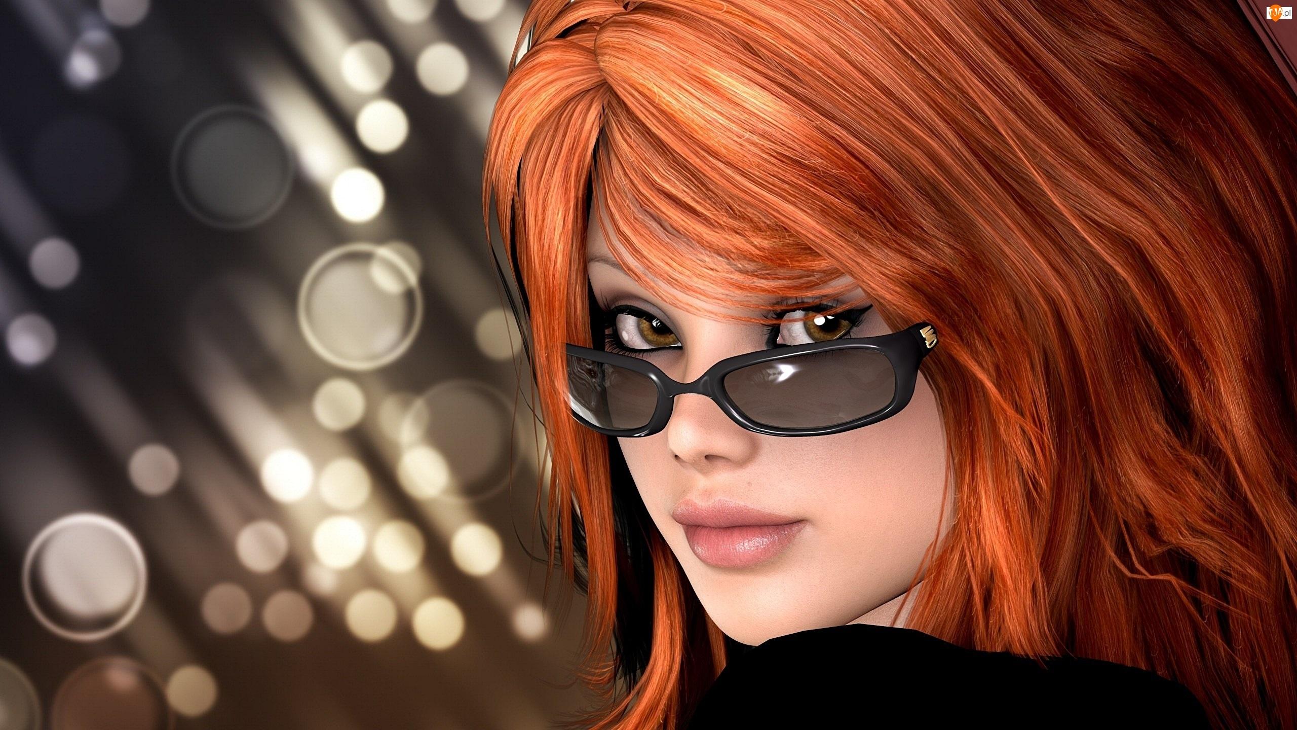 Kobieta, Grafika 2D, Okulary, Portret