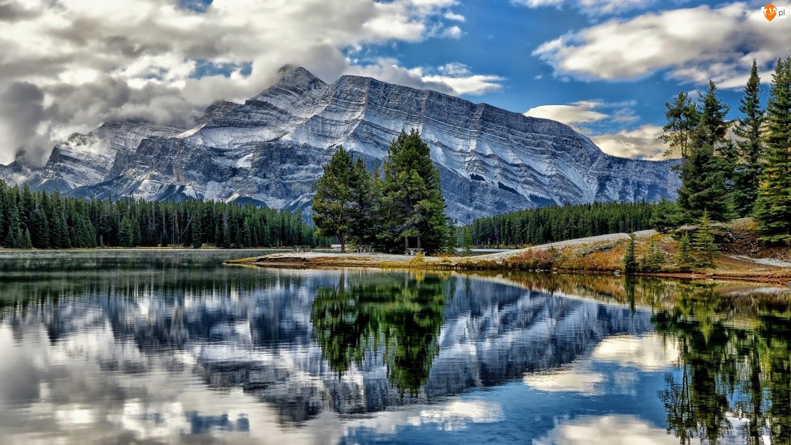 Góry, Lasy, Chmury, Rzeka