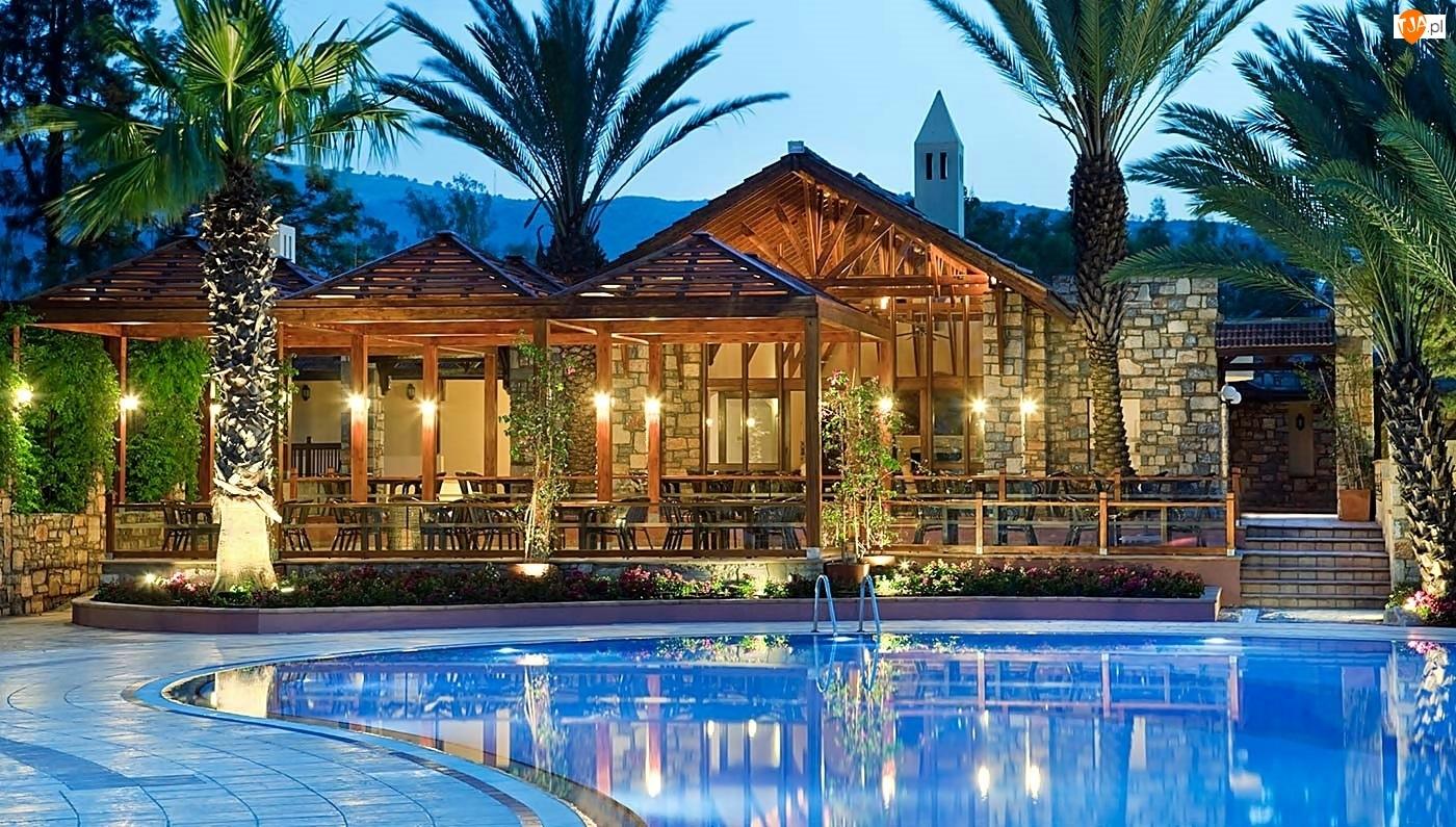 Basen, Hotel, Ogród