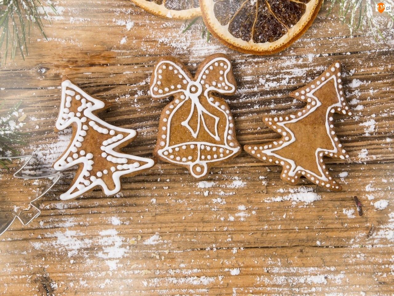 Lukrowane, Choinki, Boże, Dzwoneczek, Narodzenie, Pierniczki