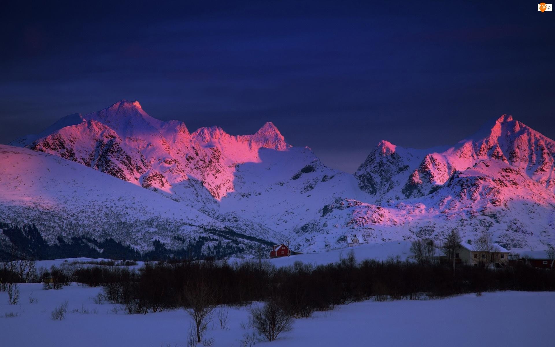 Śnieg, Góry, Zmierzch