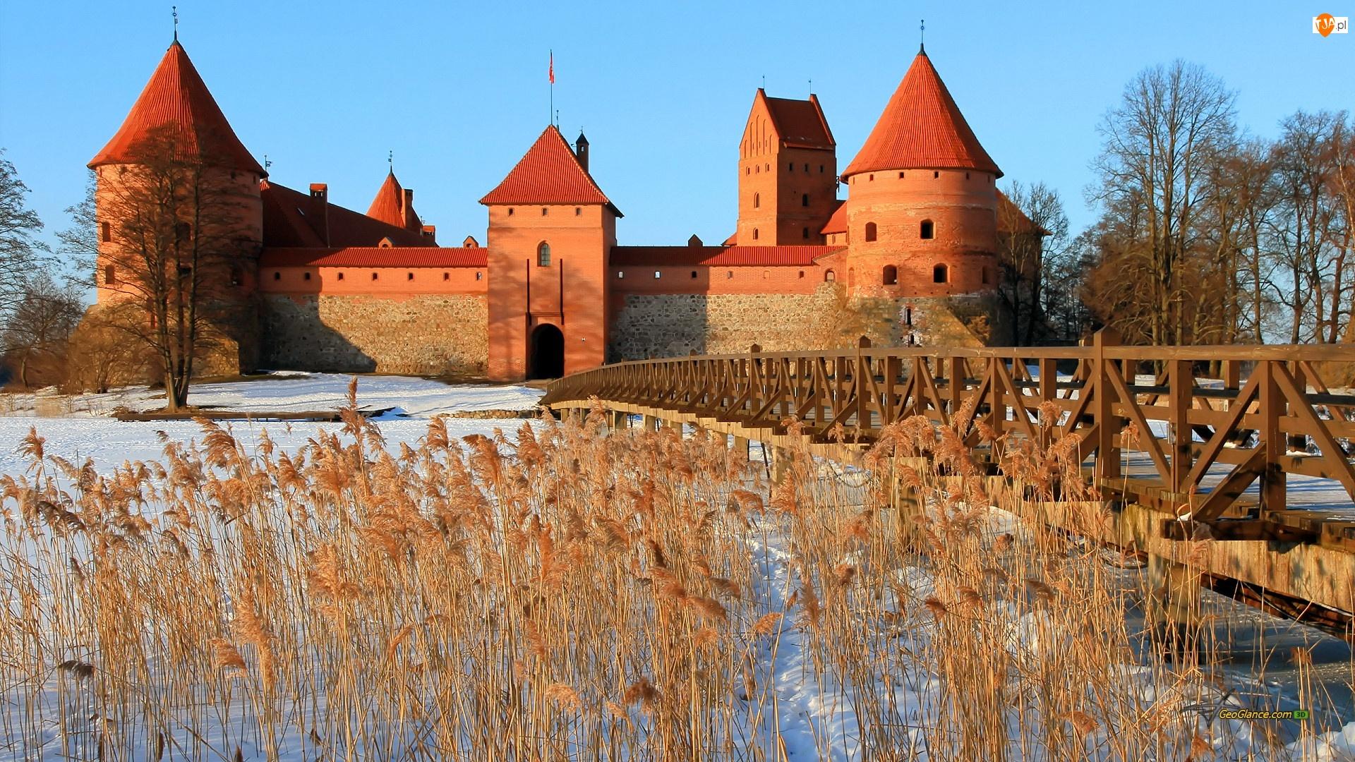 Zima, Zamek w Trokach, Litwa