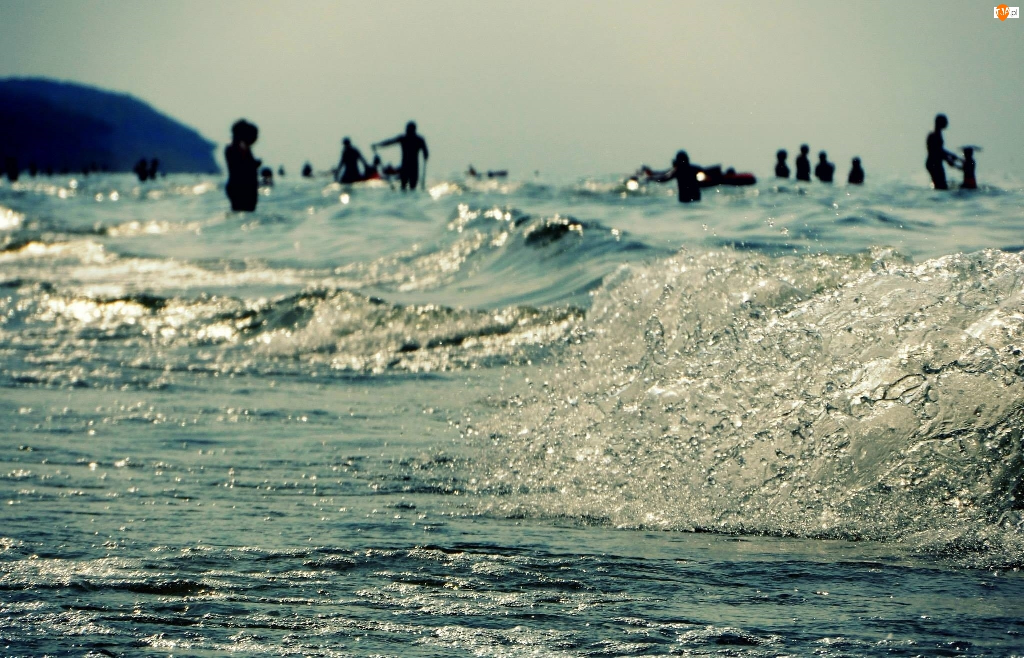 Ludzie, Morze, Fala
