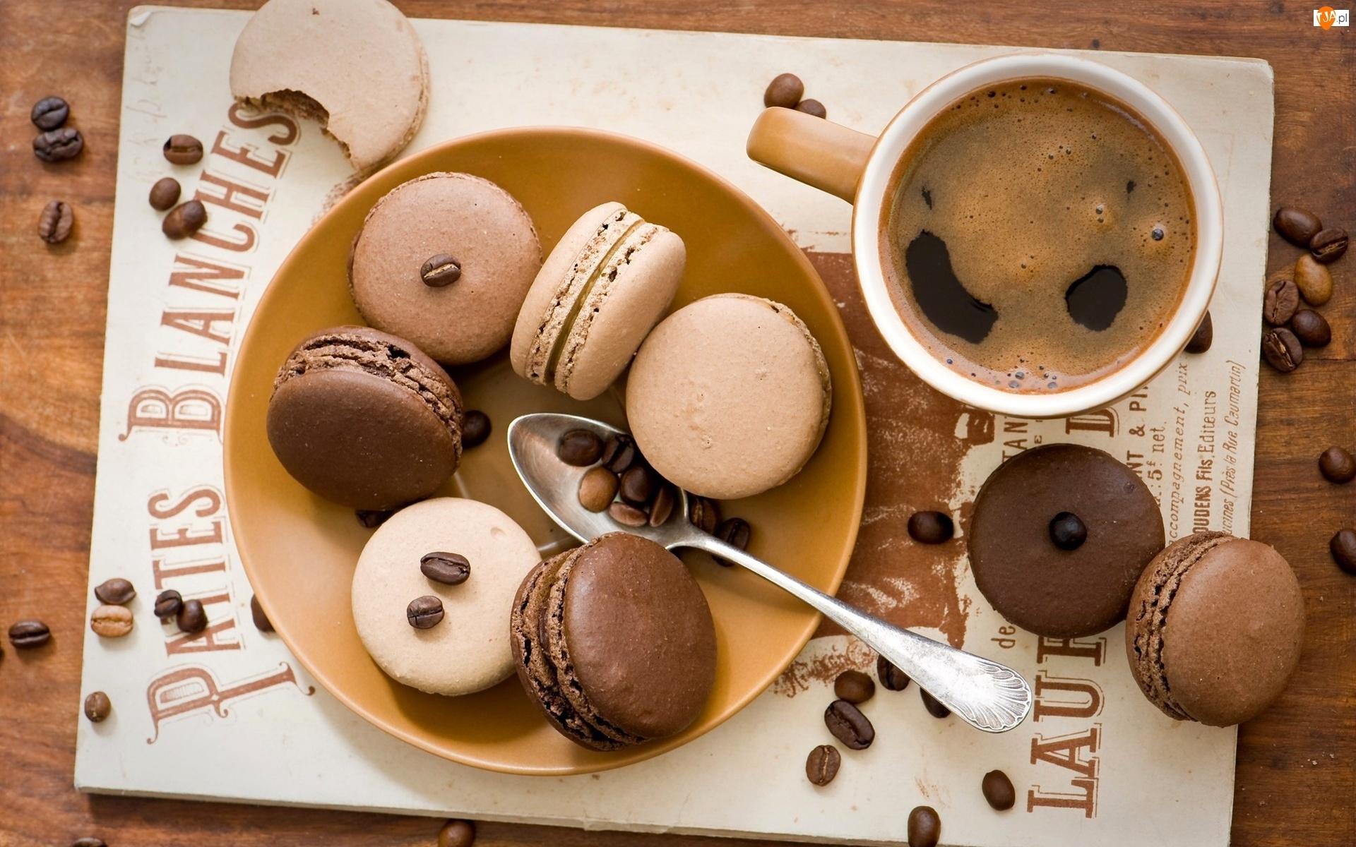 Ciasteczka, Filiżanka, Kawy