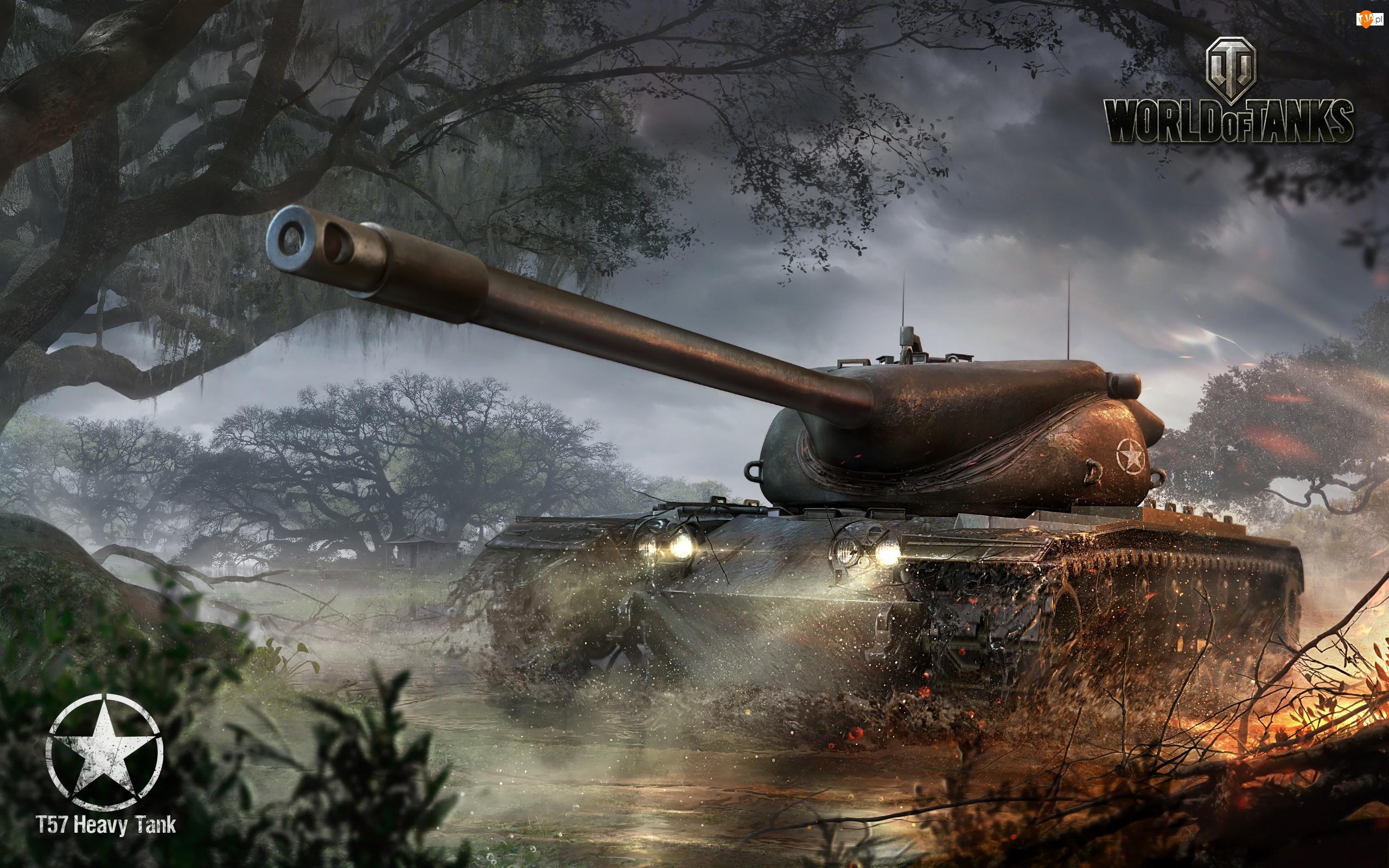 World Of Tanks, Drzewo, Czołg, Ogień