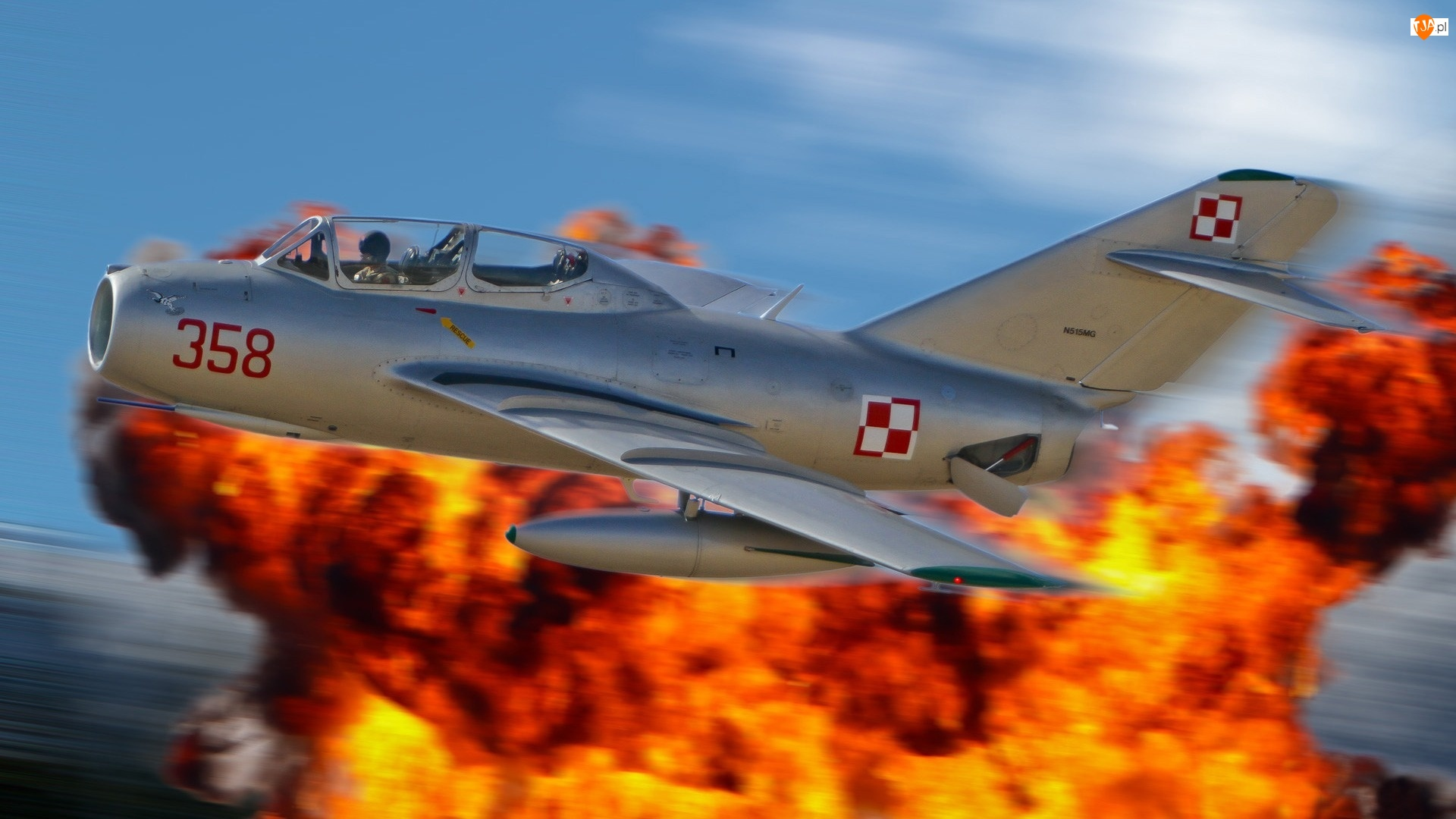 Wojskowym MIG-15, Ogień
