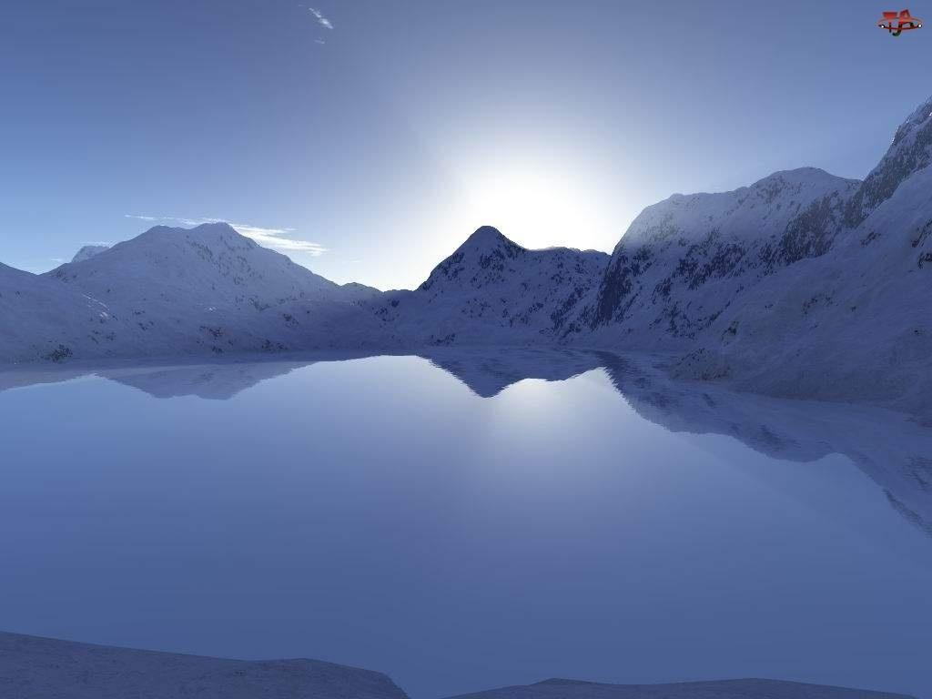 Zima, Jezioro, Górskie