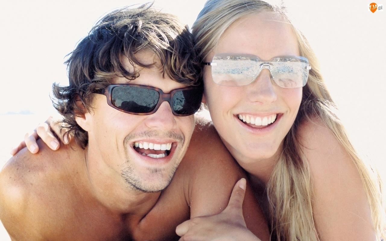 Zakochana, Słoneczne, Para, Okulary