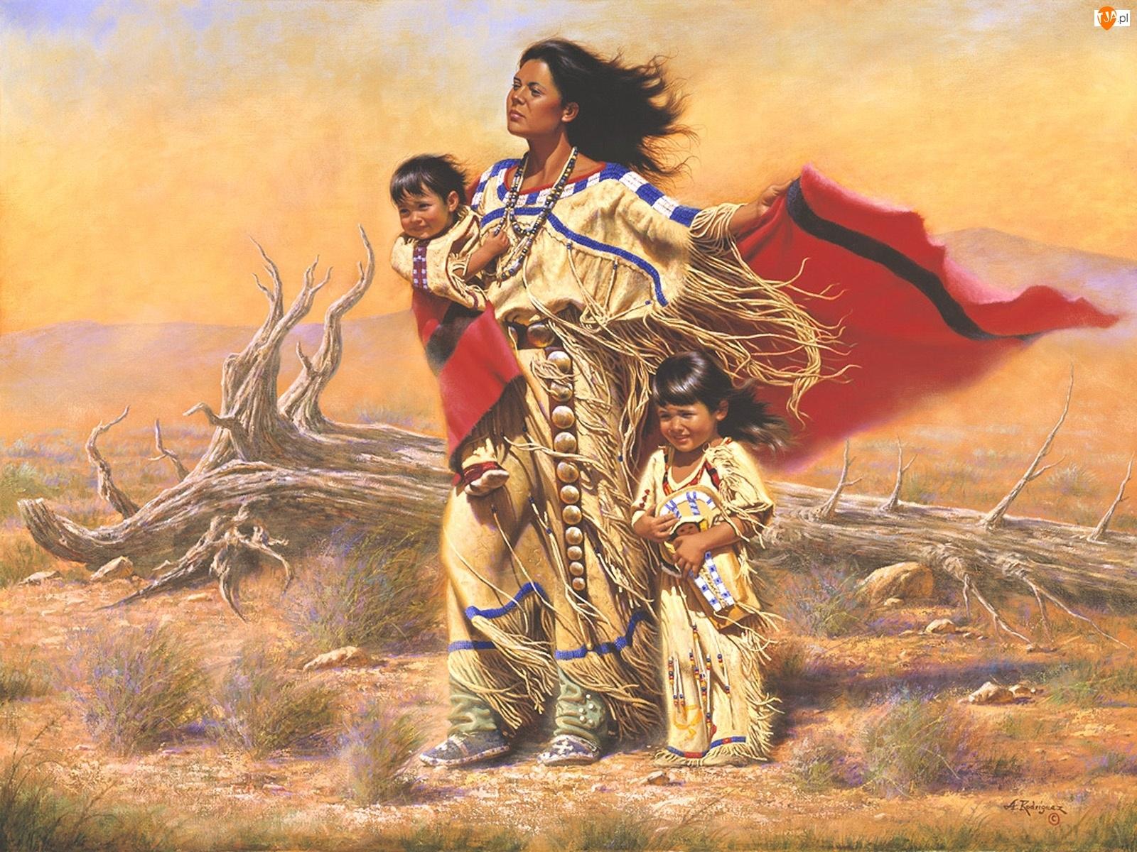 Obraz, Dzieci, Alfredo Rodriguez, Indianka