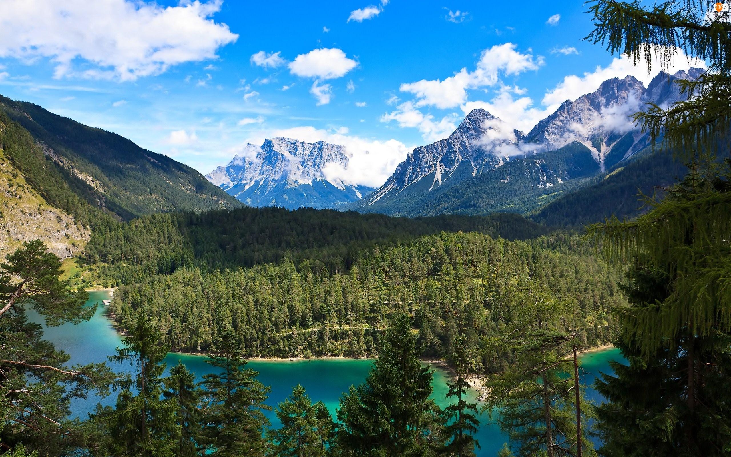 Lasy, Góry, Jezioro