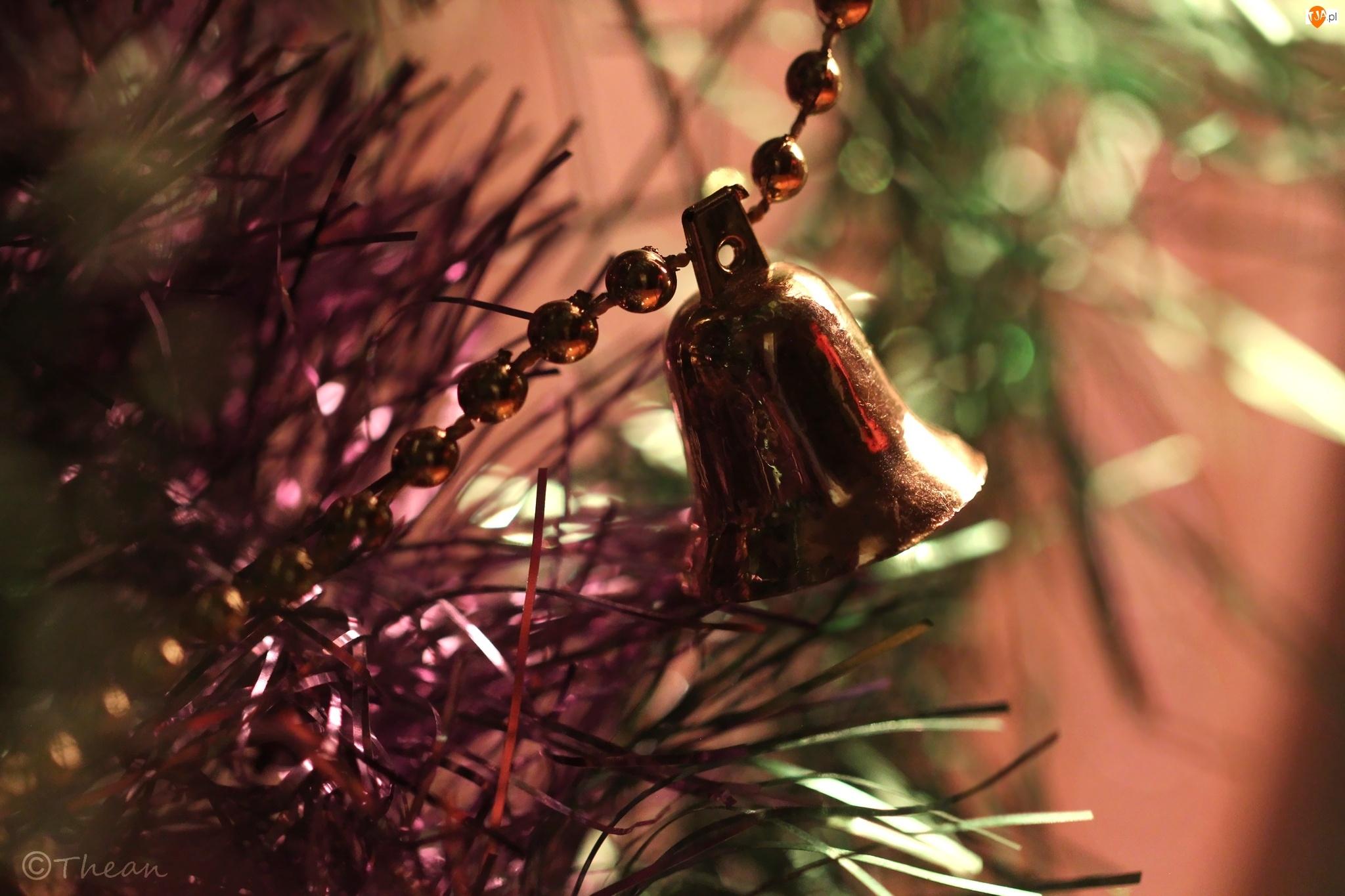Ozdoba, Boże, Złoty, Narodzenie, Dzwonek, Święta