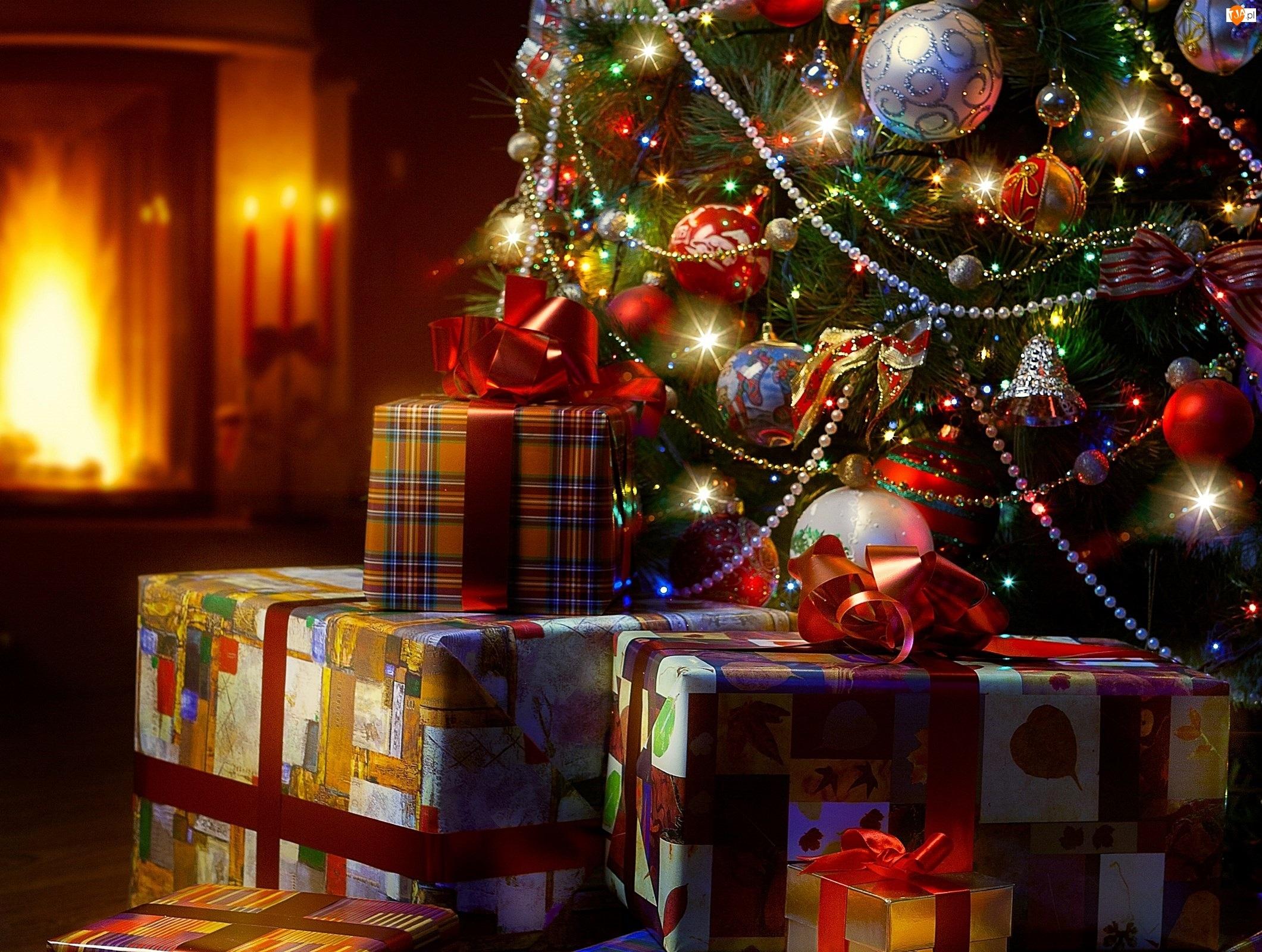 Choinka, Święta, Prezenty, Boże Narodzenie