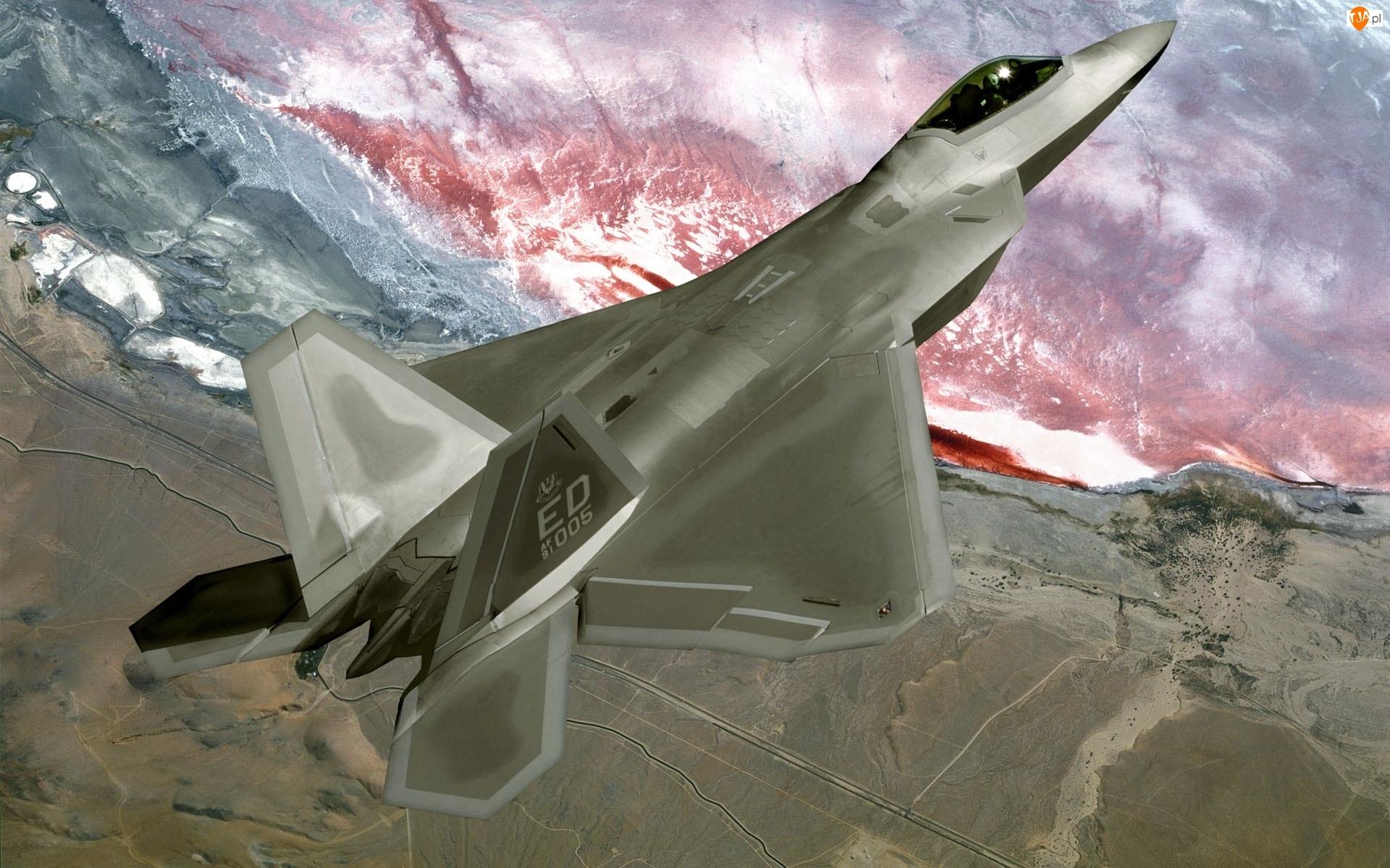 F-22, Wzbijający, Lockheed, Się, Martin
