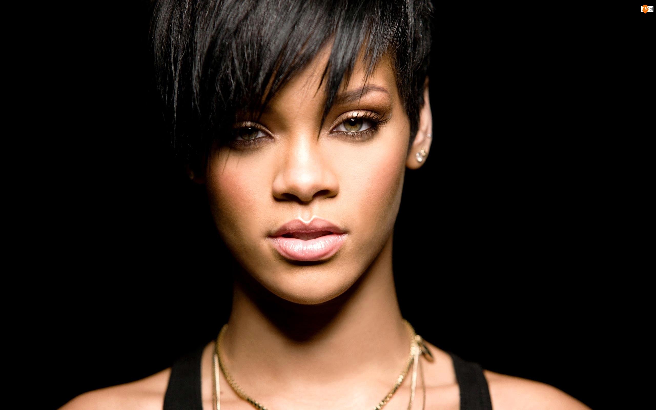 Fenty, Czarne, Robyn, Tło, Rihanna, Zbliżenie