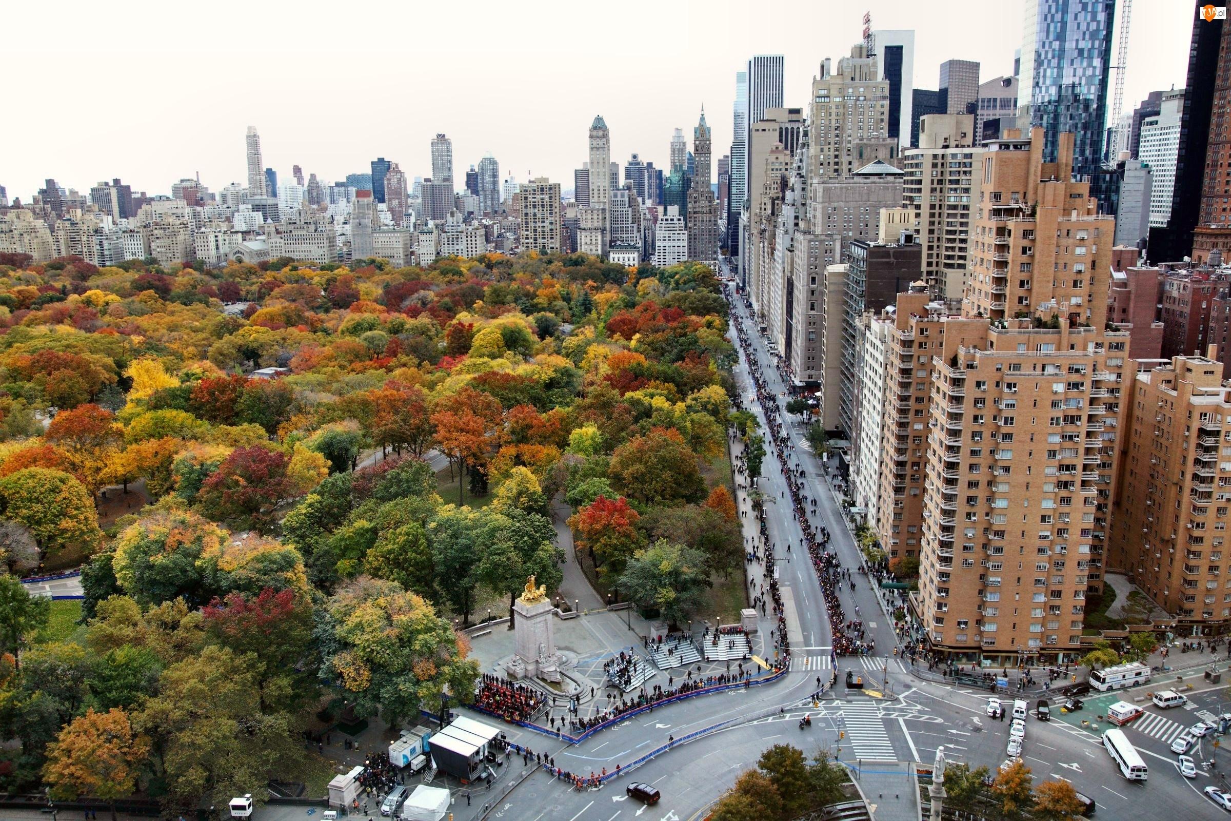 Central Park, Jesień, Manhattan, Nowy Jork