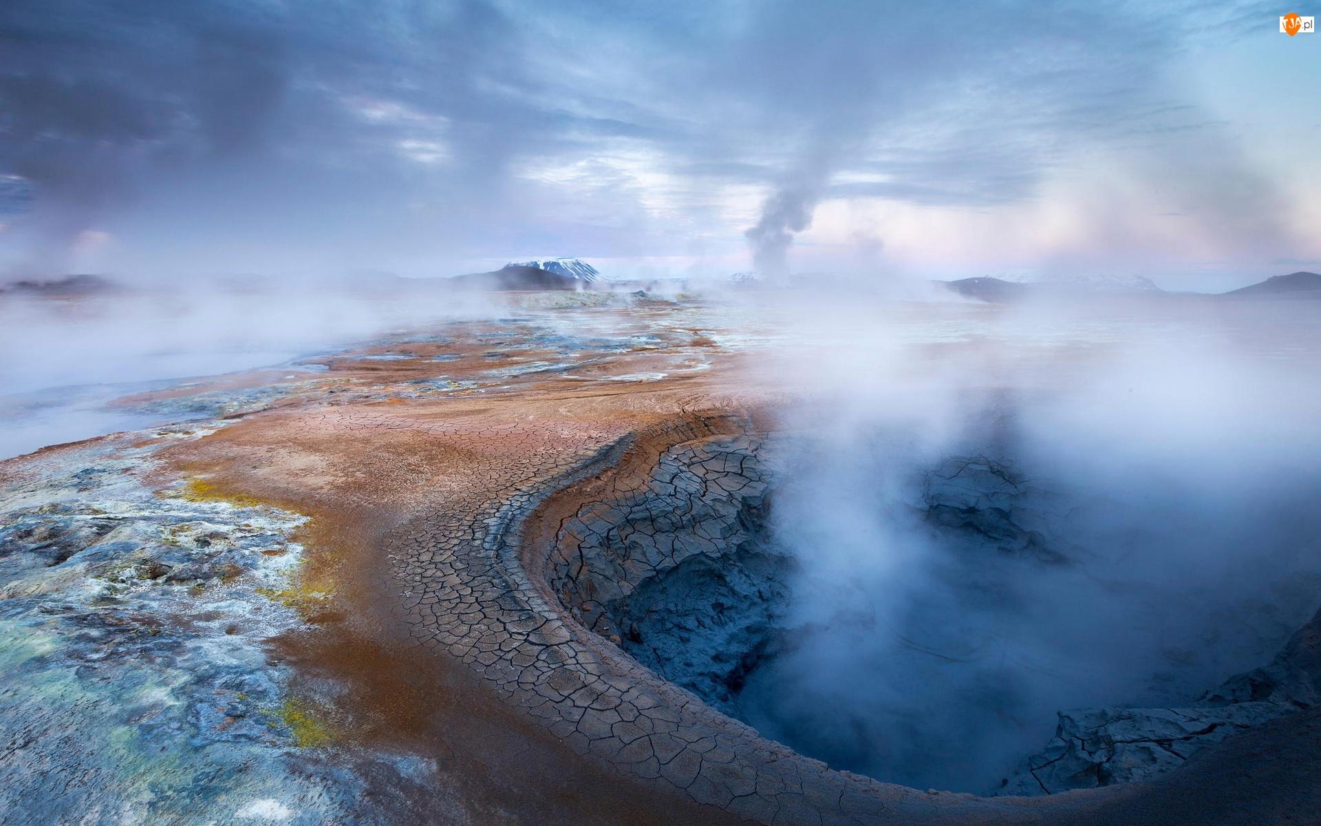 Źródło, Islandia, Geotermalne, Góry