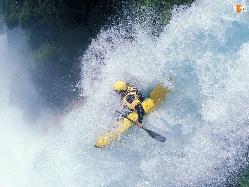 Kajakarstwo, wodospad