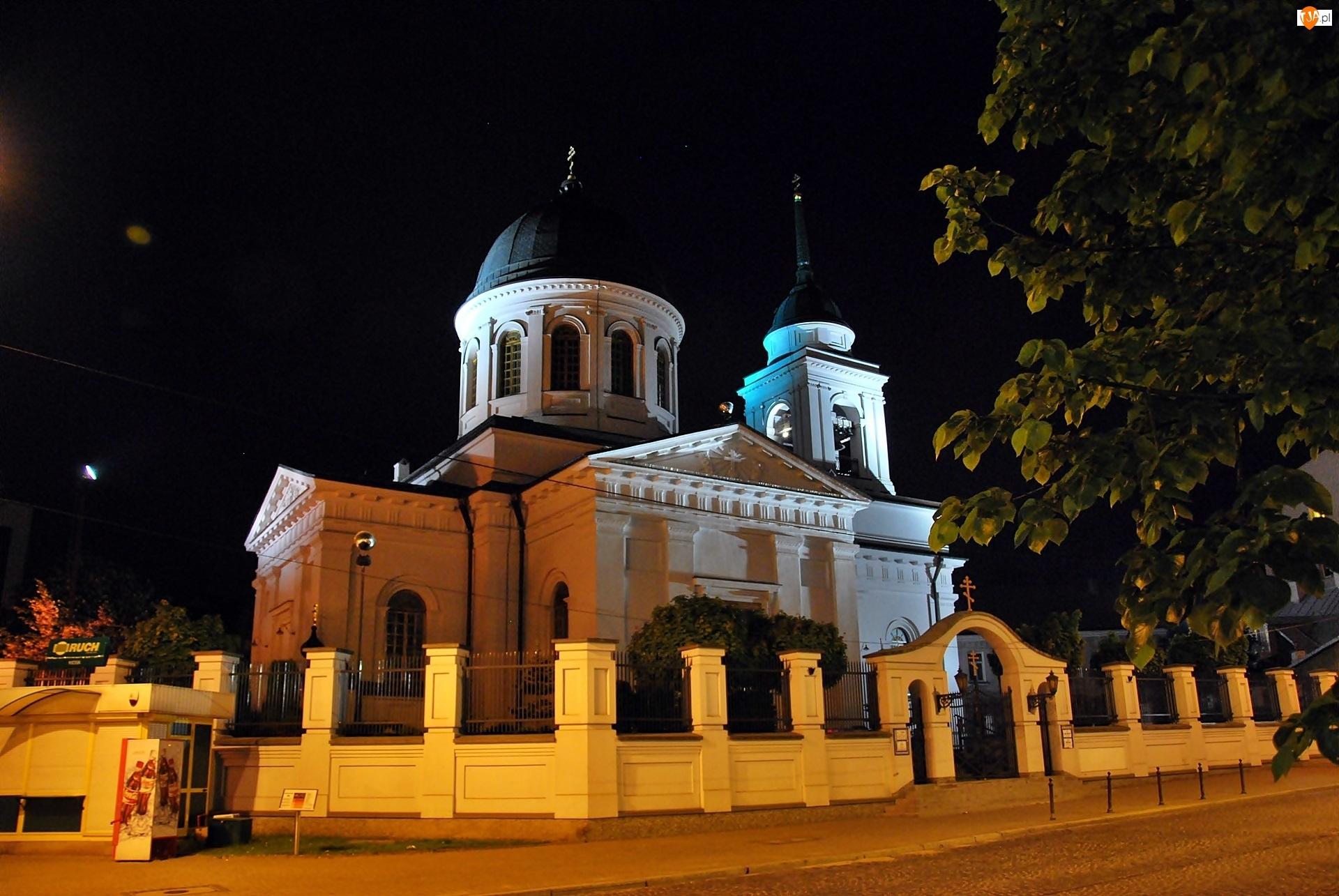 Białystok, Cerkiew, Mikołaja, Świętego, Noc