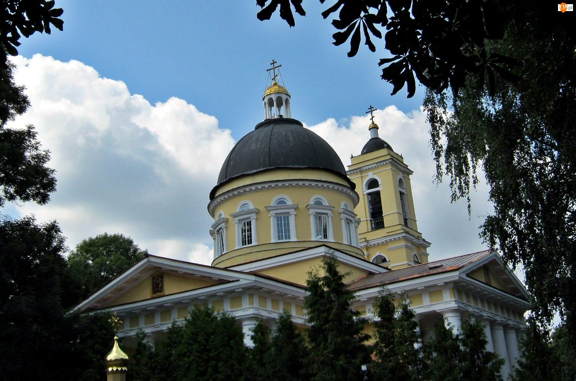 Obłoki, Cerkiew, Drzewa