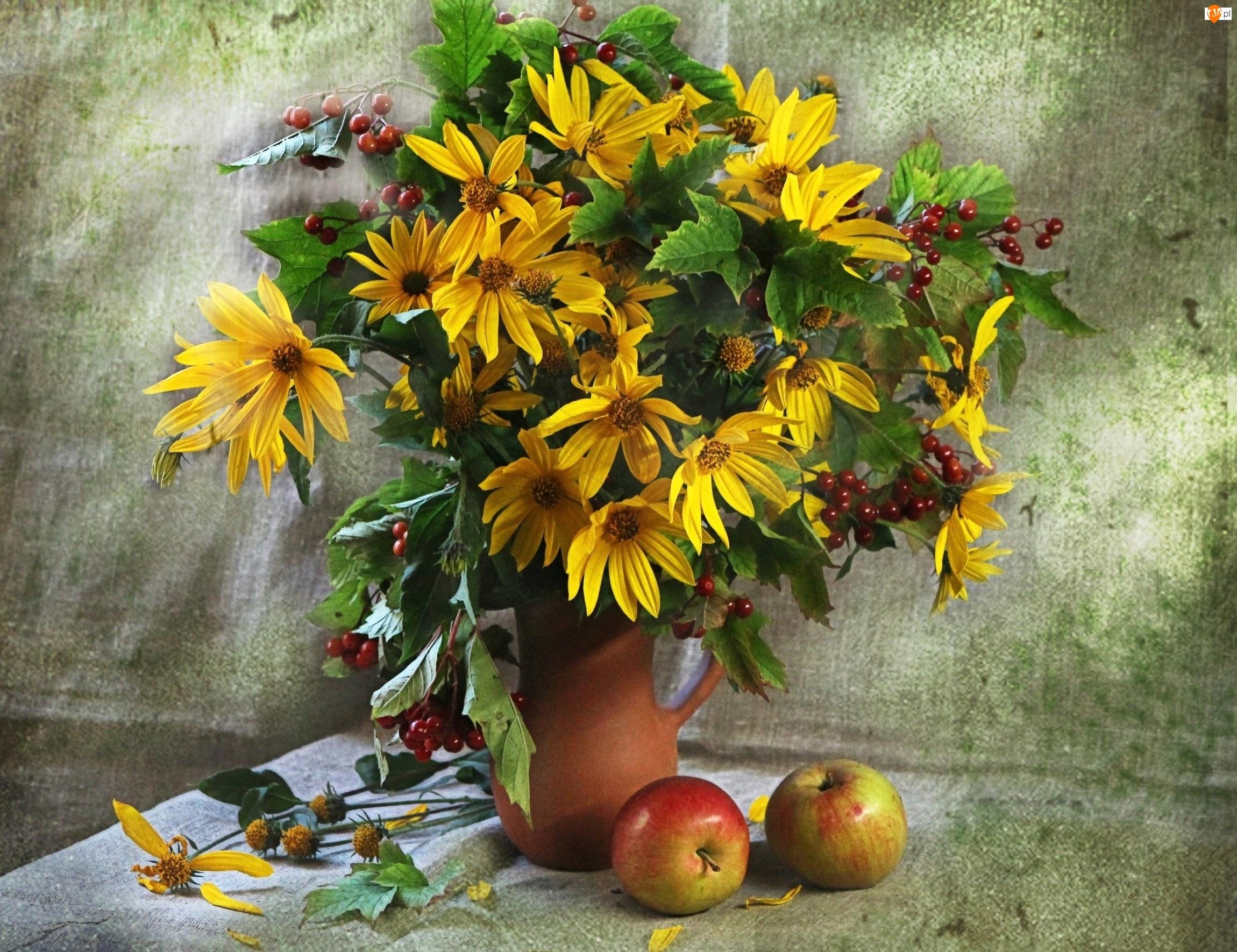 Jablka, Kwiaty, Bukiet