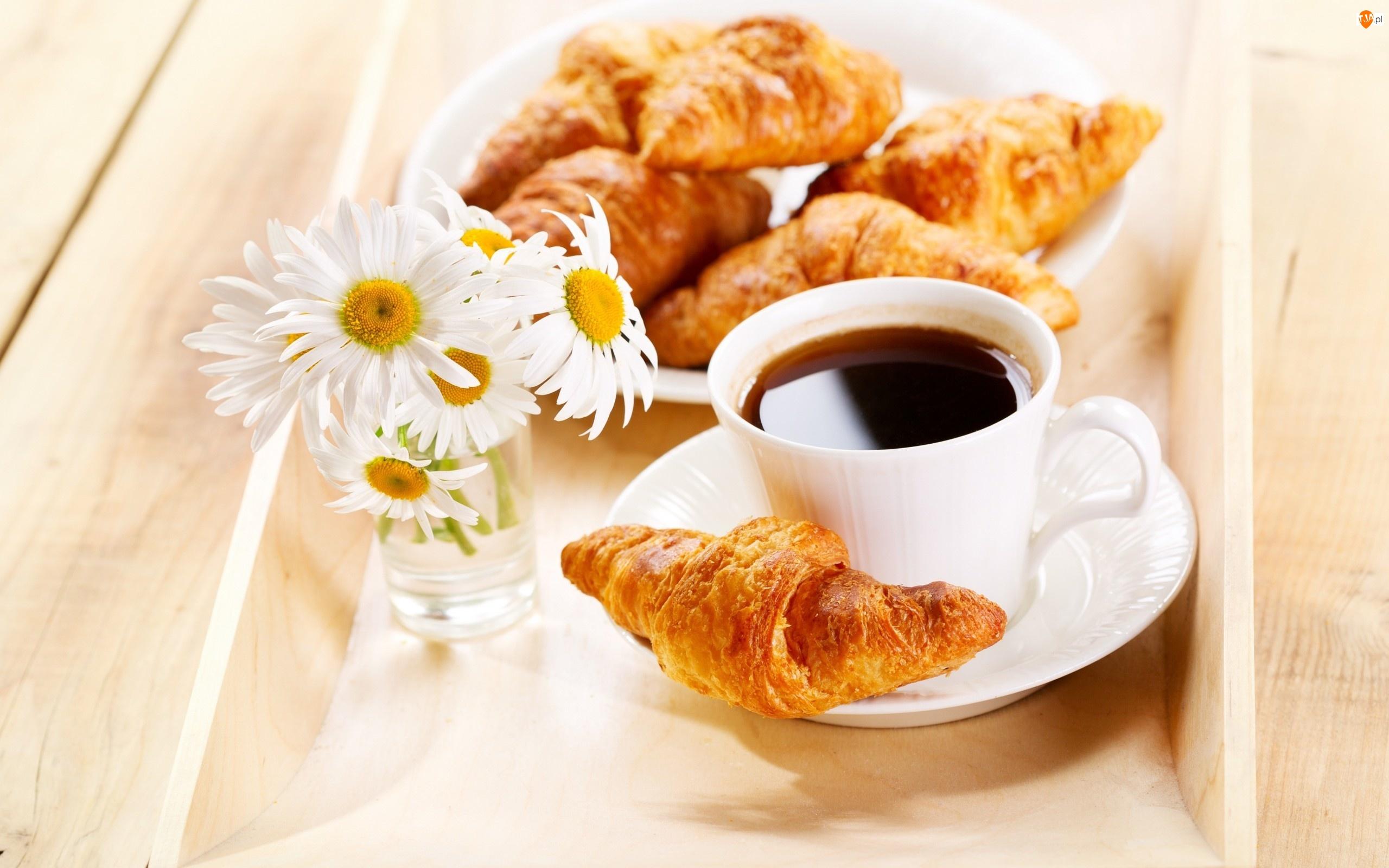 Kwiaty, Rogaliki, Kawa