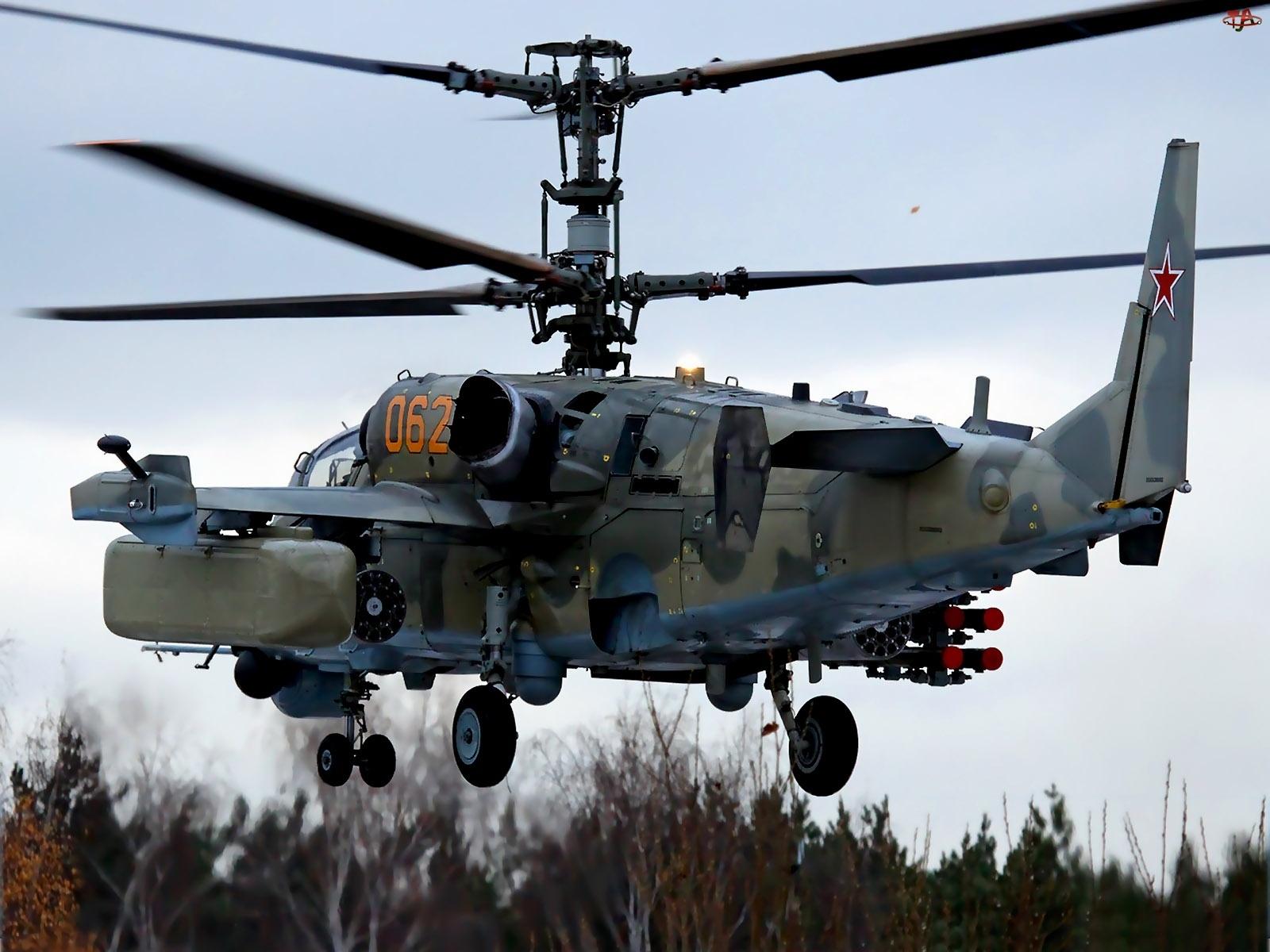 Wirniki, Helikopter, Ka-52, Kamov, Dwa