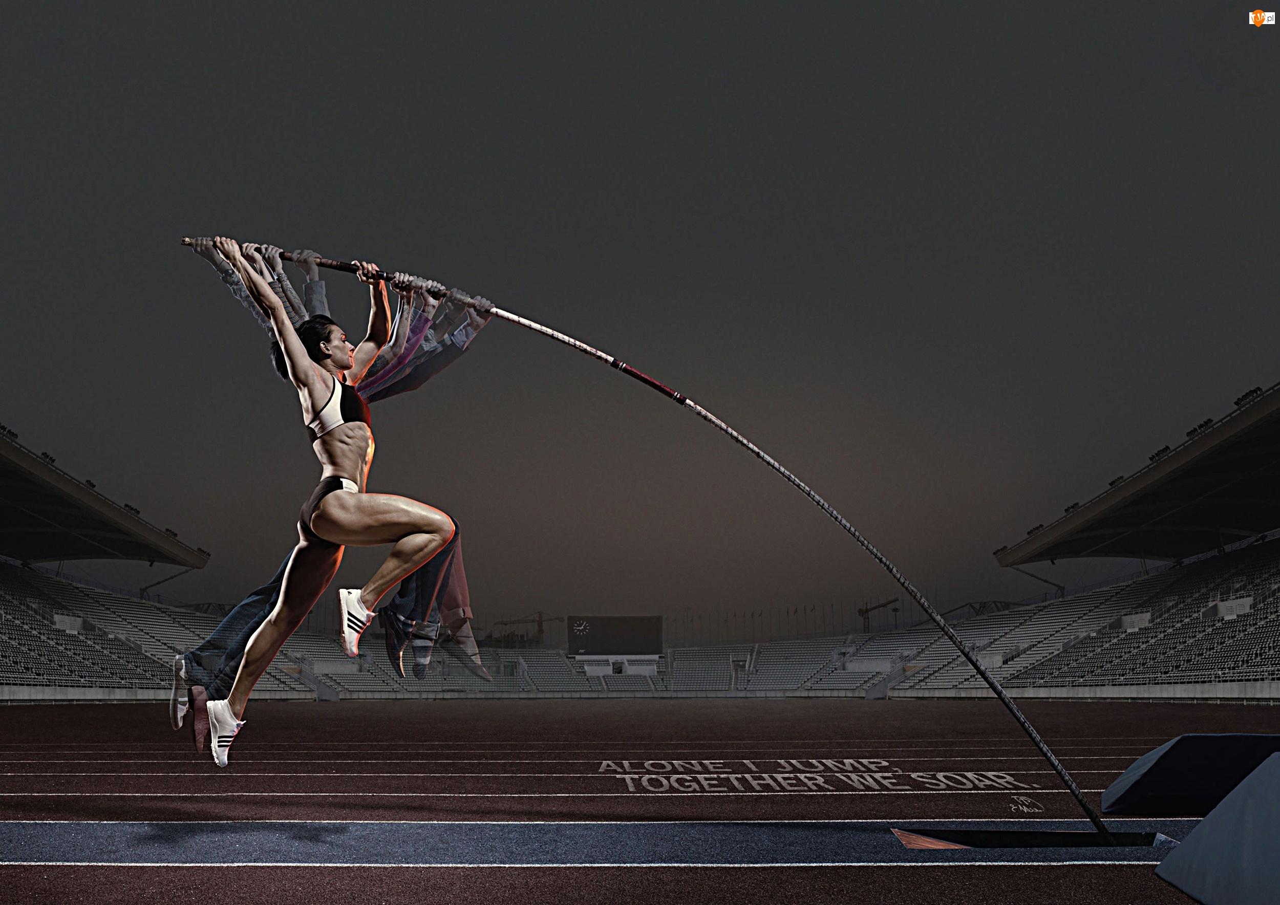 sport, Skok o tyczce, kobieta