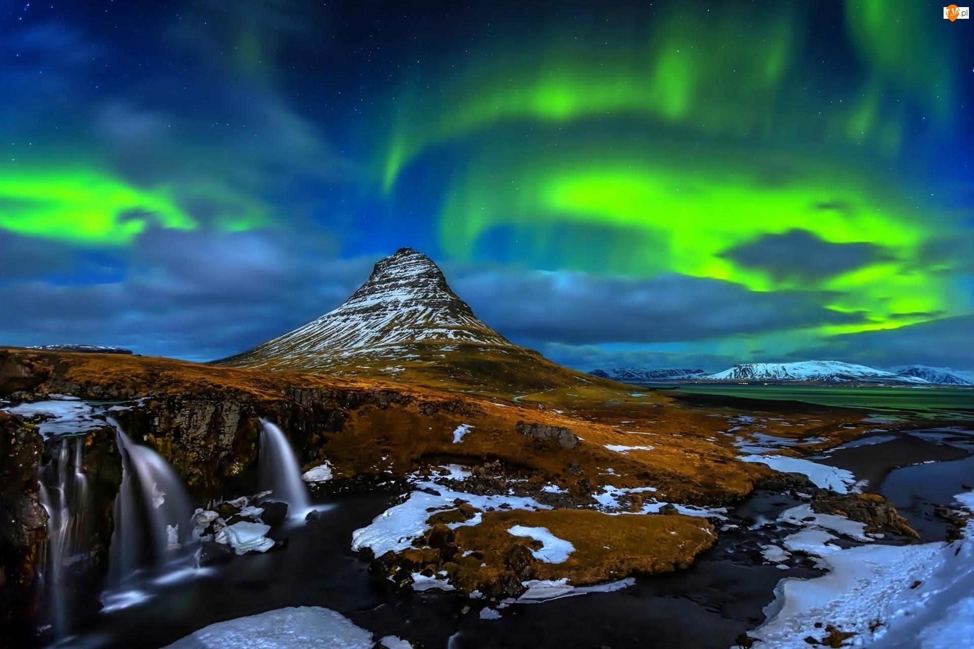 Islandia, Zorza, Polarna