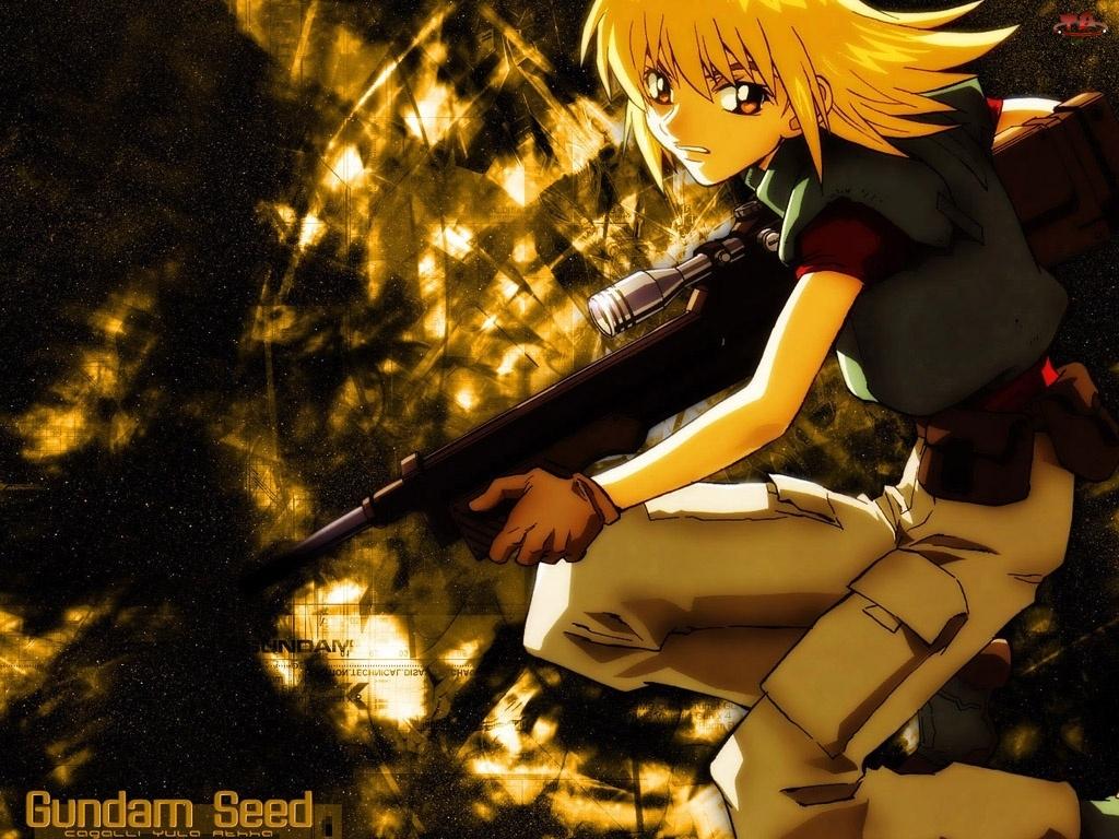 Gundam Seed, snajper, kobieta, polowanie