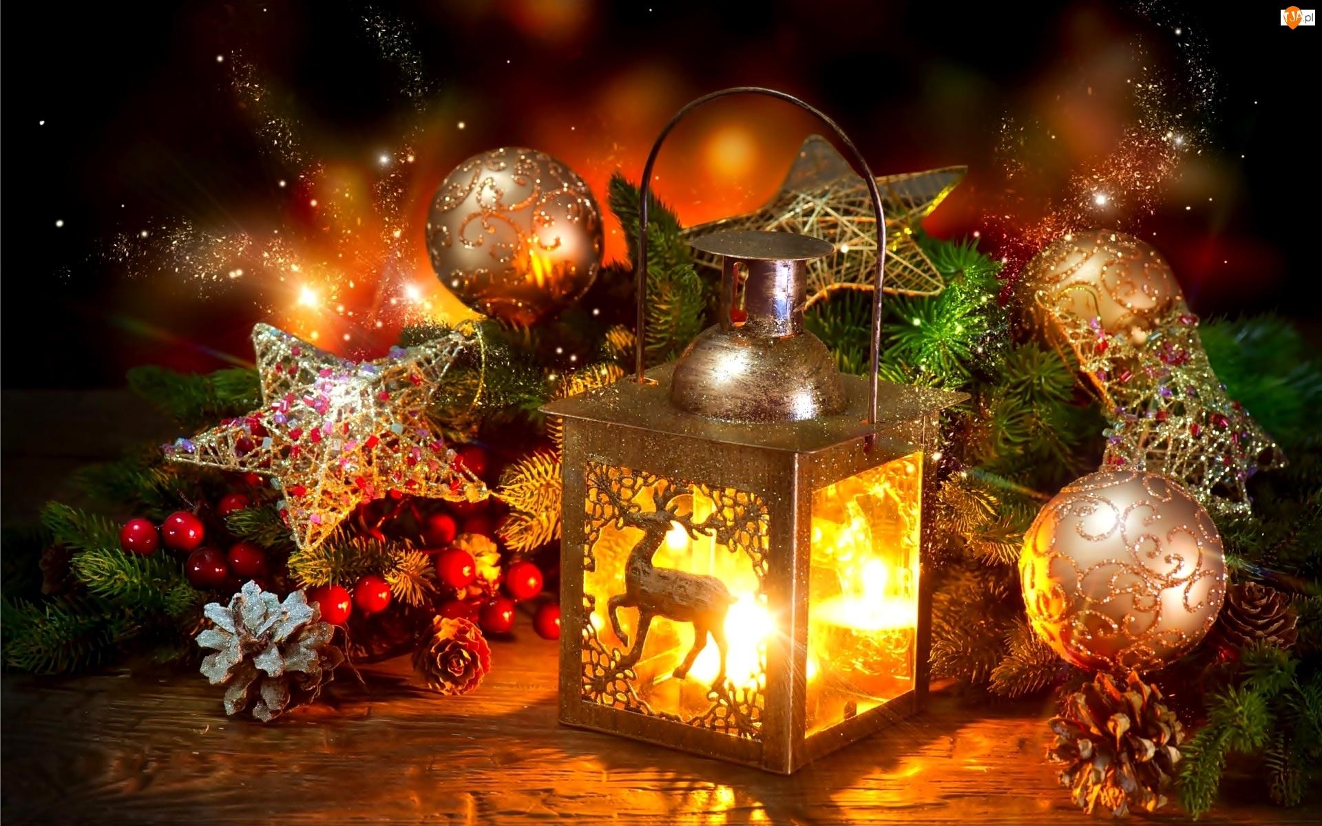 Lampion, Lampion, Boże Narodzenie, Kompozycja