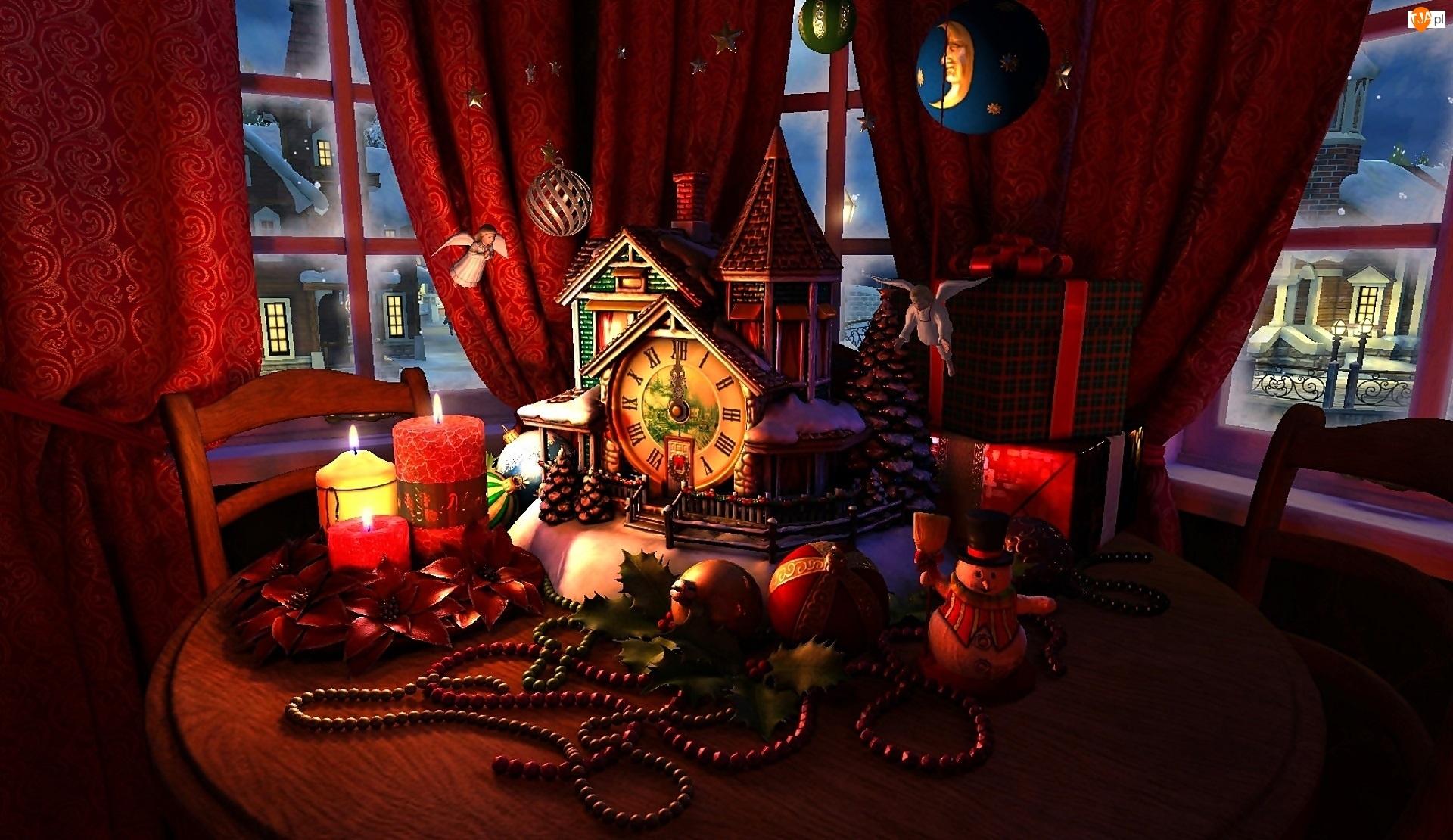 Boże Narodzenie, Wnętrze, Dekoracje, Pokój, Świąteczne