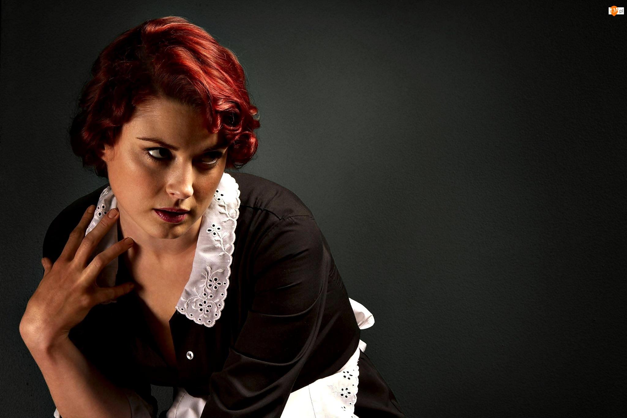 Kobieta, Serial, Aktorka, Alexandra Breckenridge, Fartuszek, American Horror Story, Gosposia