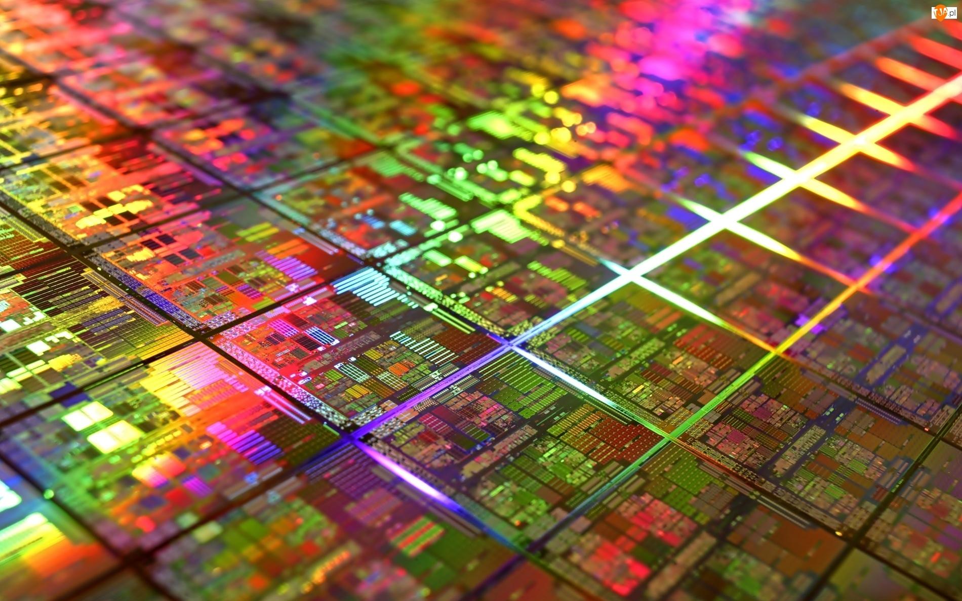 Wnętrze, Elektronika, Hardware, Kolorowe, Procesor, Technologia