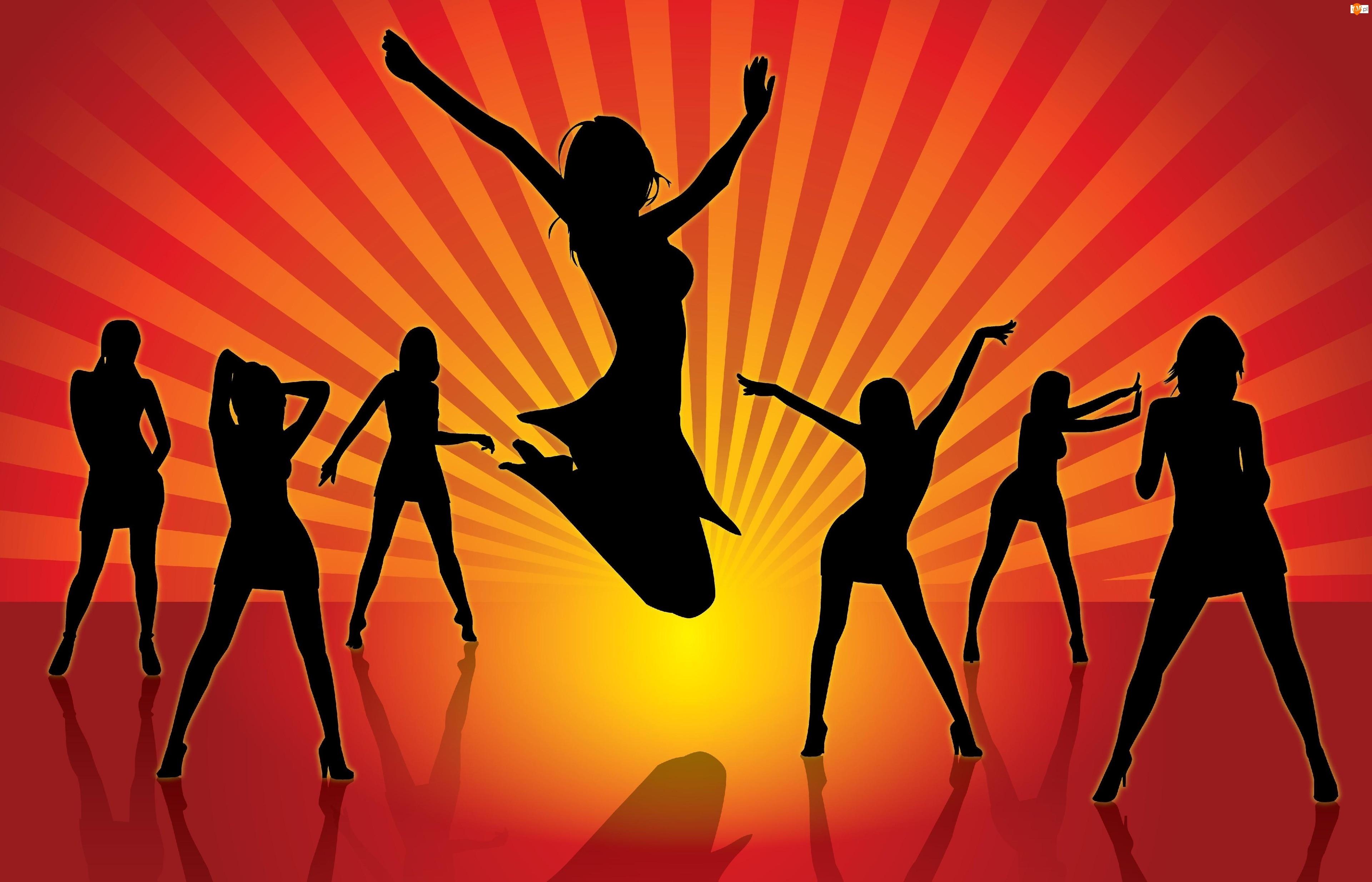 Zabawa, Dziewczyny, Dance, Taniec, Dyskoteka