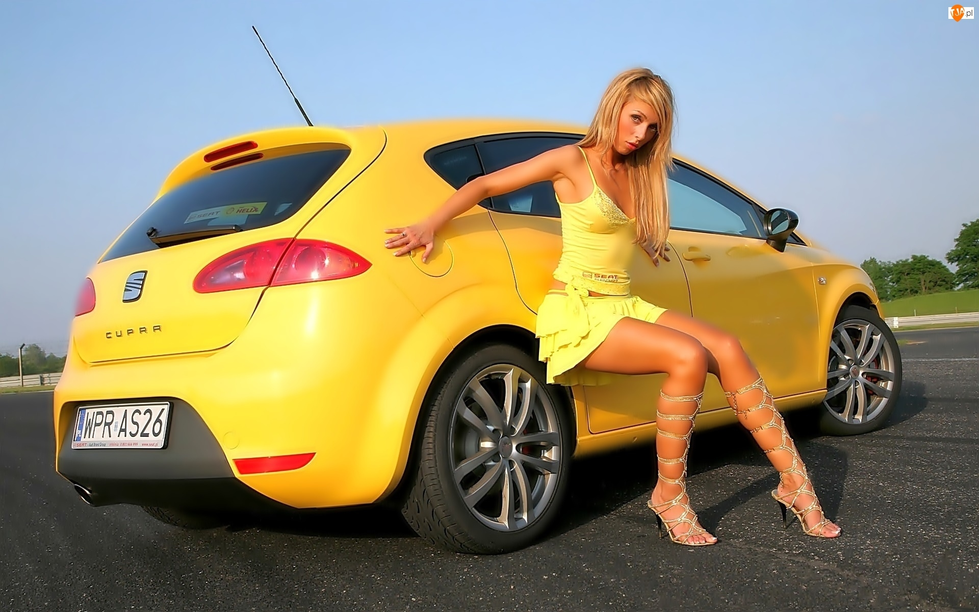 Żółty, Kobieta, Seat, Cupra