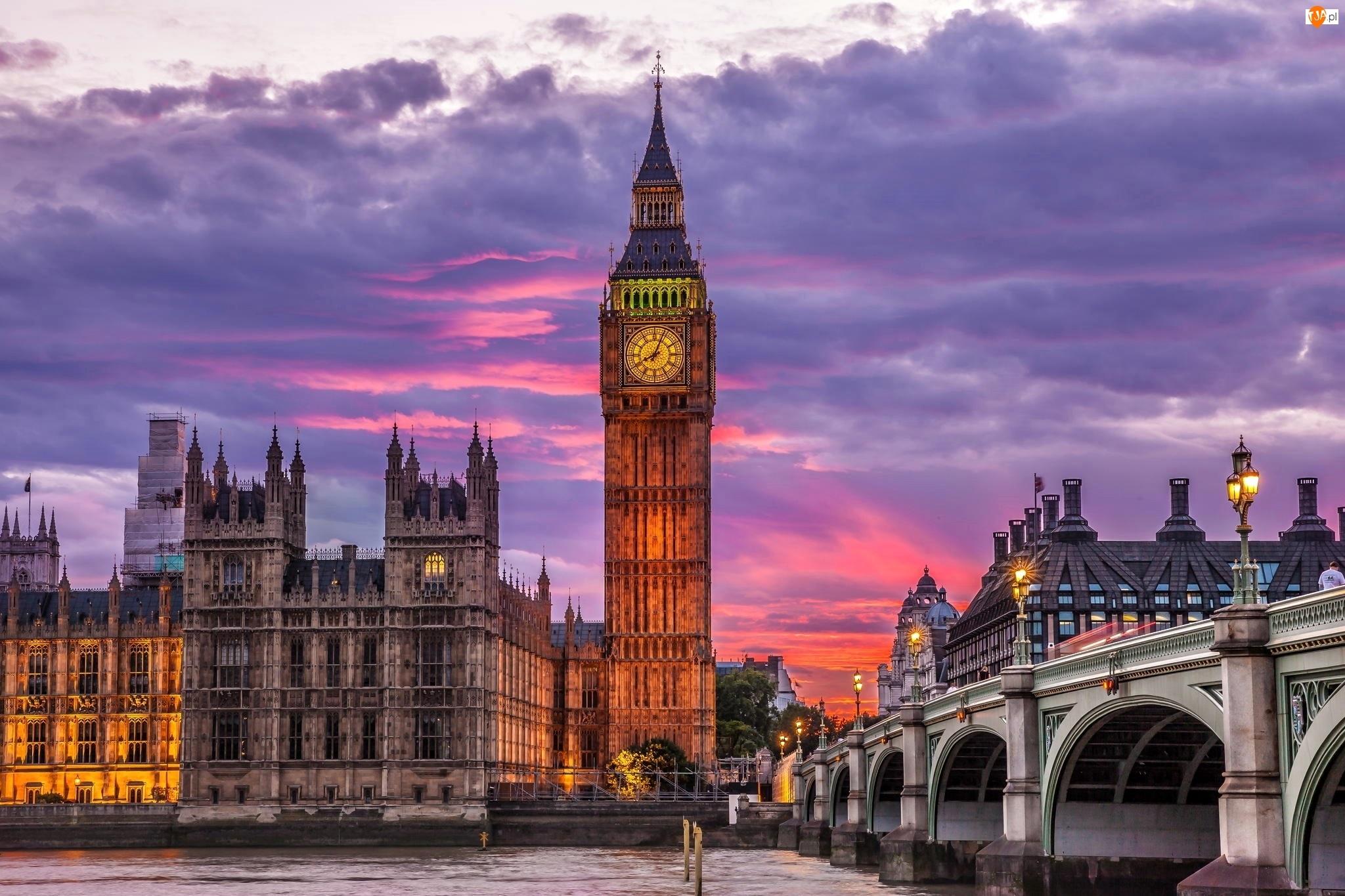 Pałac Westminster, Wielka Brytania, Anglia, Londyn, Big Ben