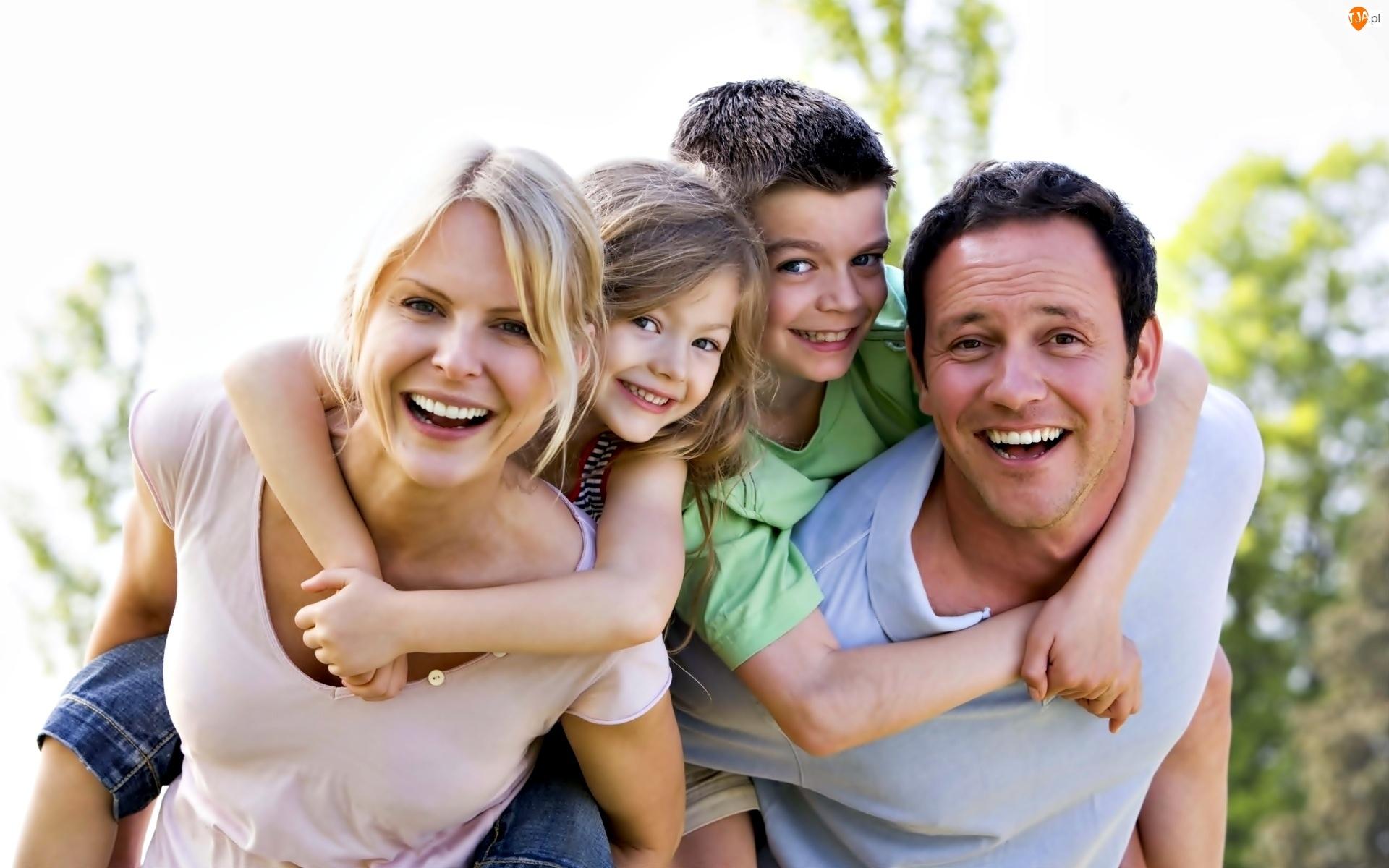 Szczęśliwi, Rodzina, Rodzice, Dzieci