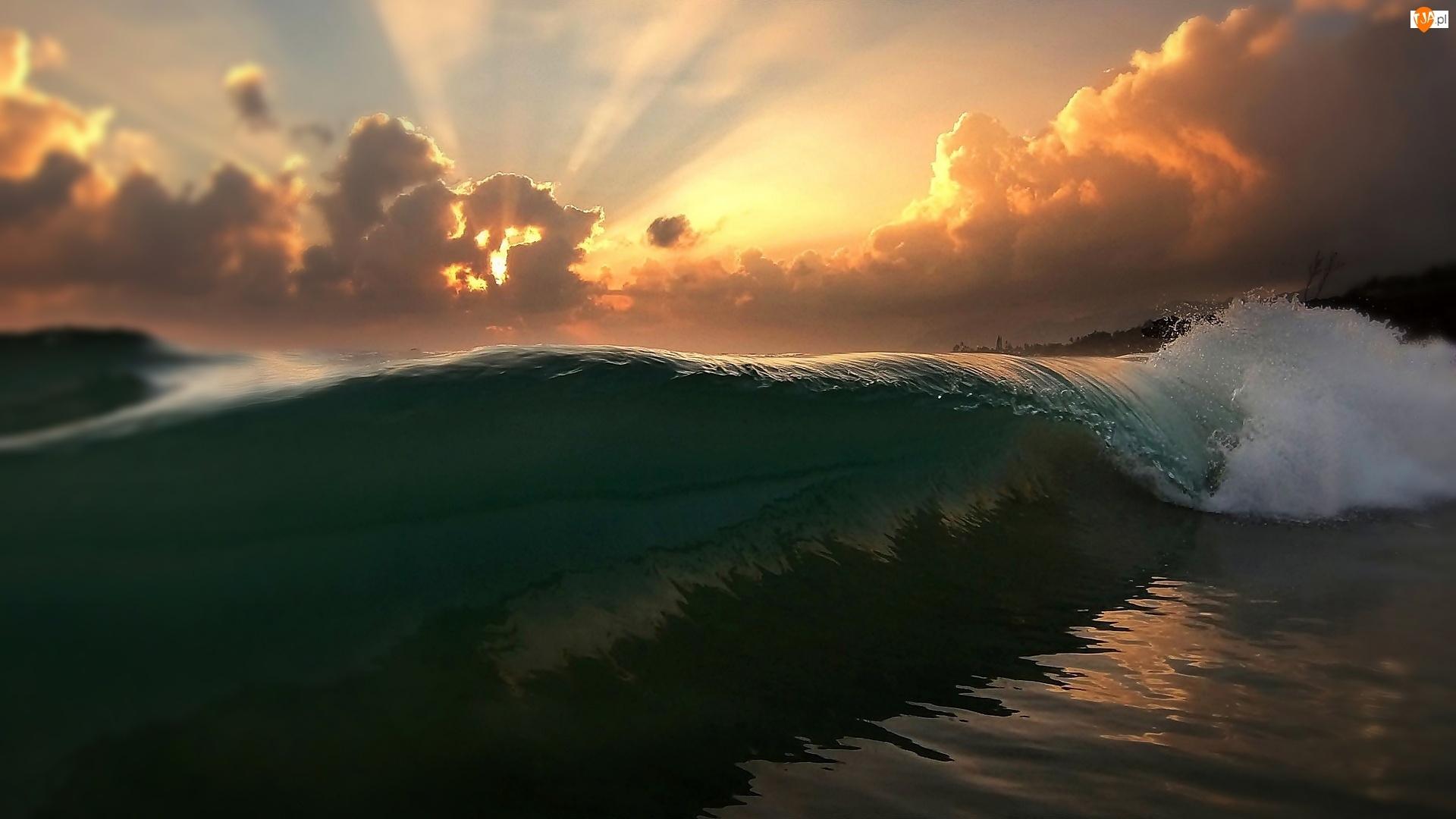 Chmury, Morze, Fala