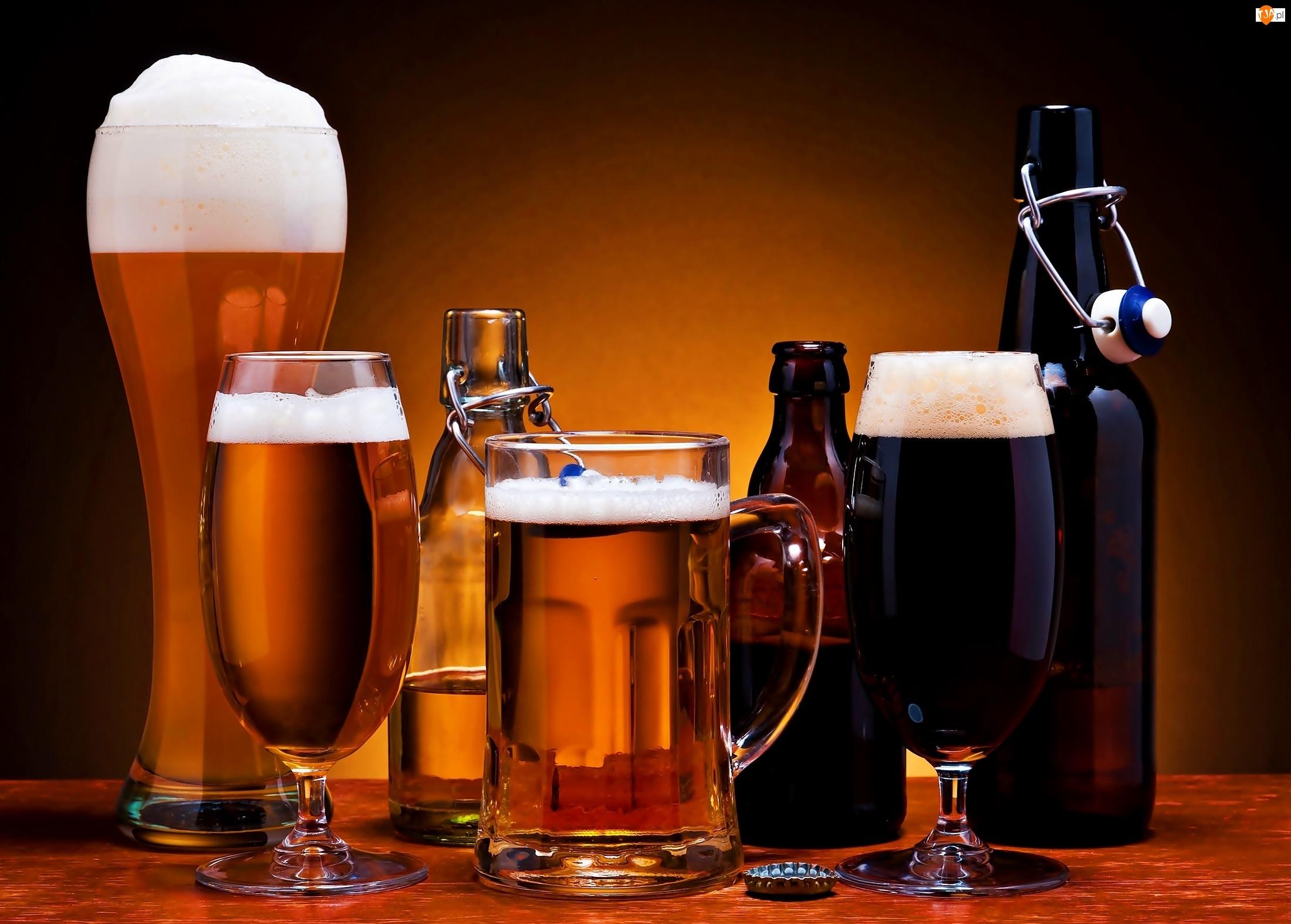 Piwo, Piana, Jasne, Ciemne
