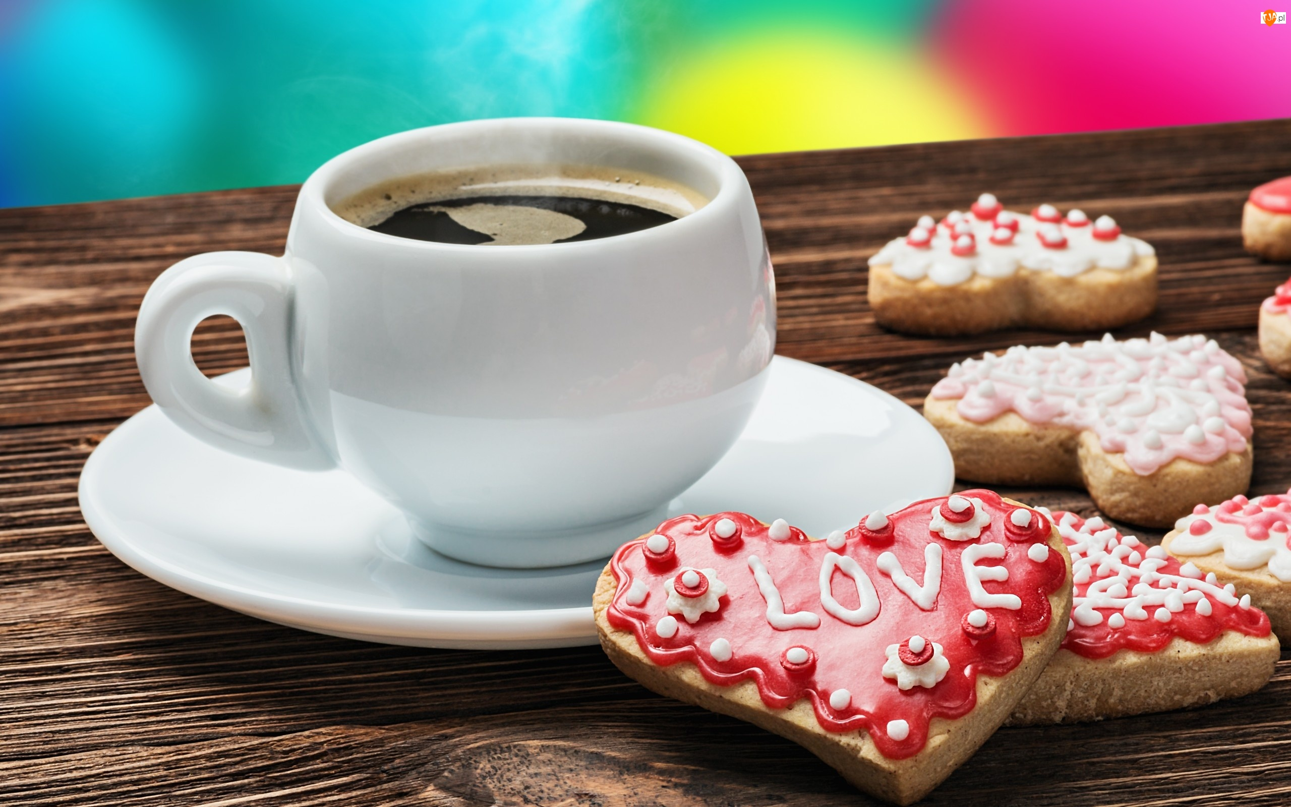 Filiżanka, Miłość, Kawy, Ciasteczka
