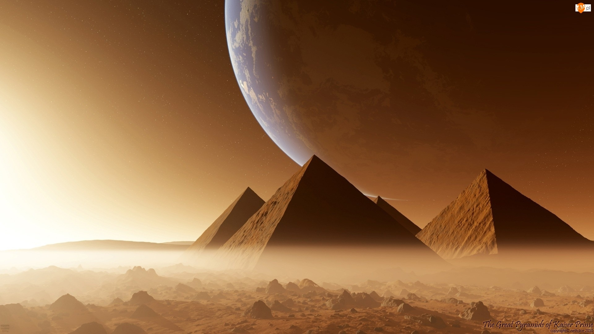 Księżyc, Fantasy, Piramidy