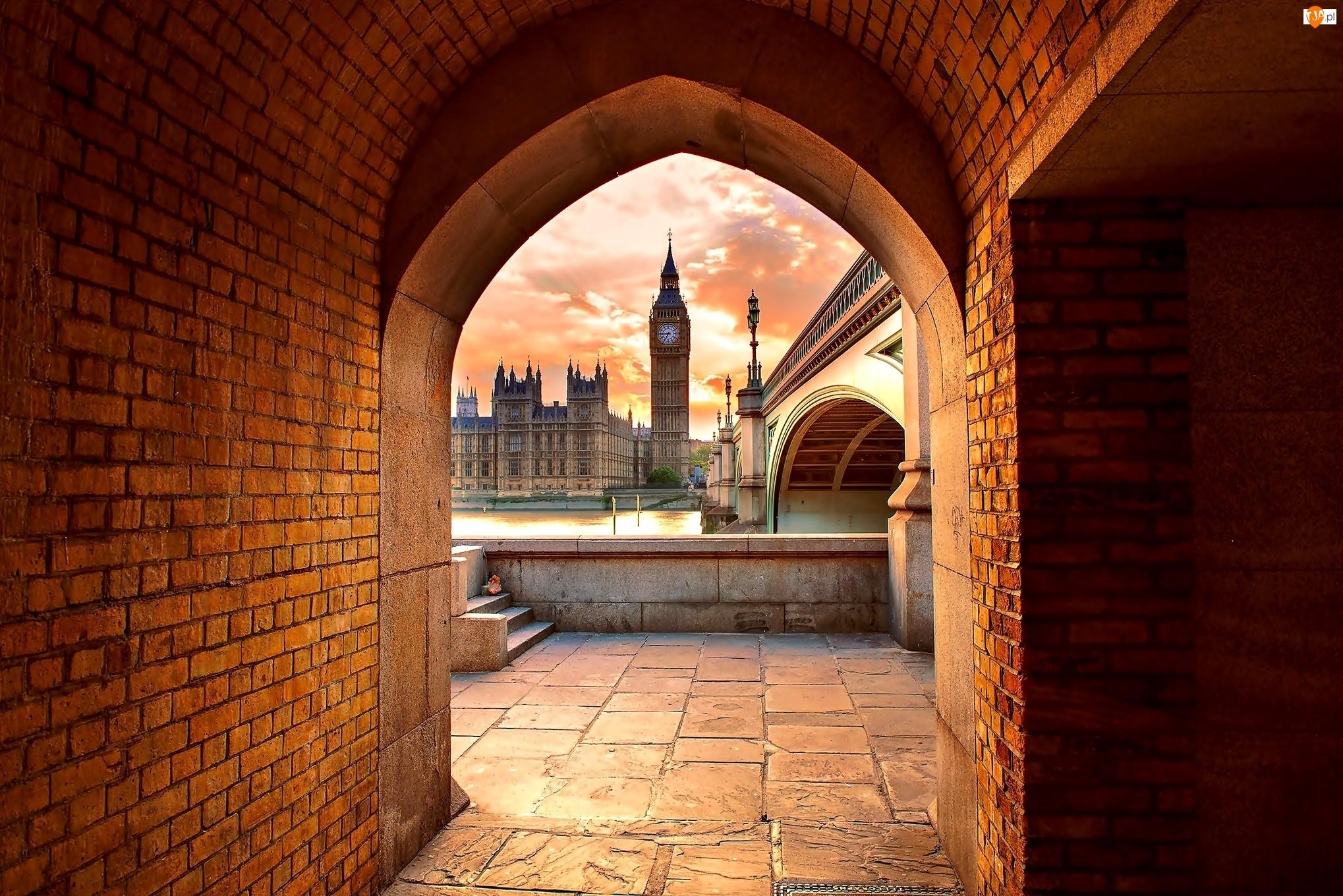 Tunel, Wielka Brytania, Big Ben, Londyn, Pałac Westminster