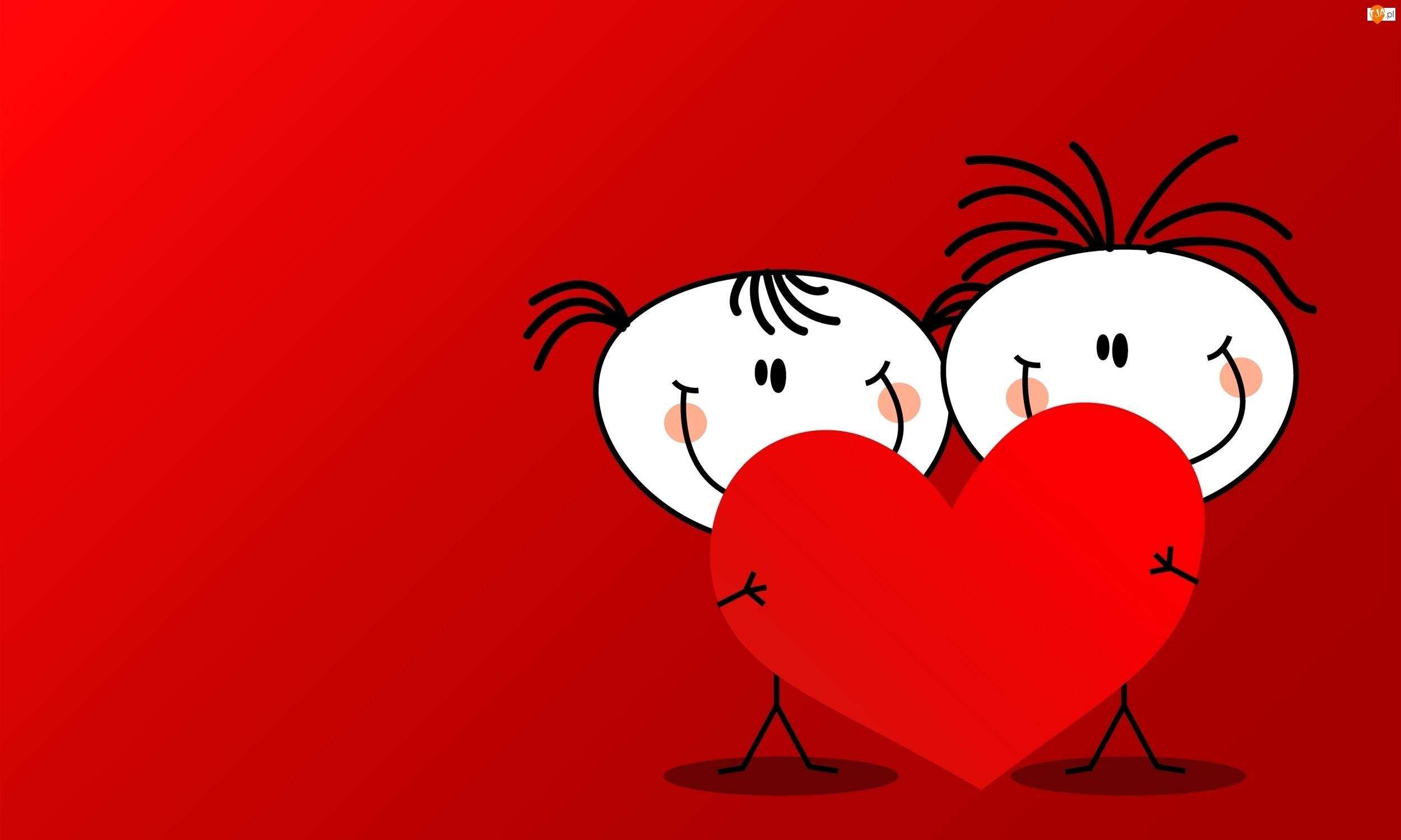 Walentynki, Serce, Chłopiec, Dziewczyna