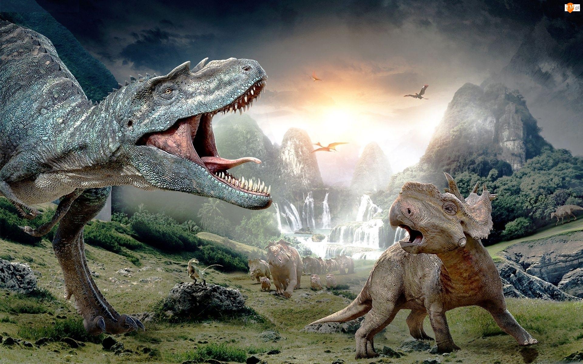Lasy, Dinozaury, Góry