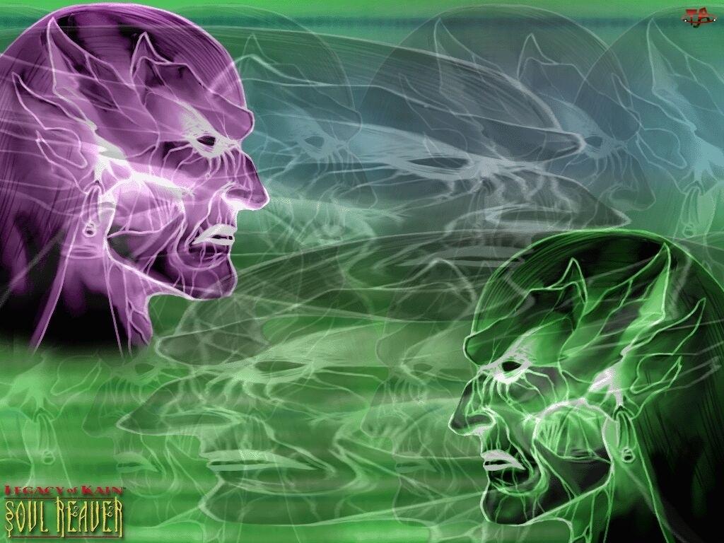 Legacy Of Kain Soul Reaver, postacie, twarz, grafika