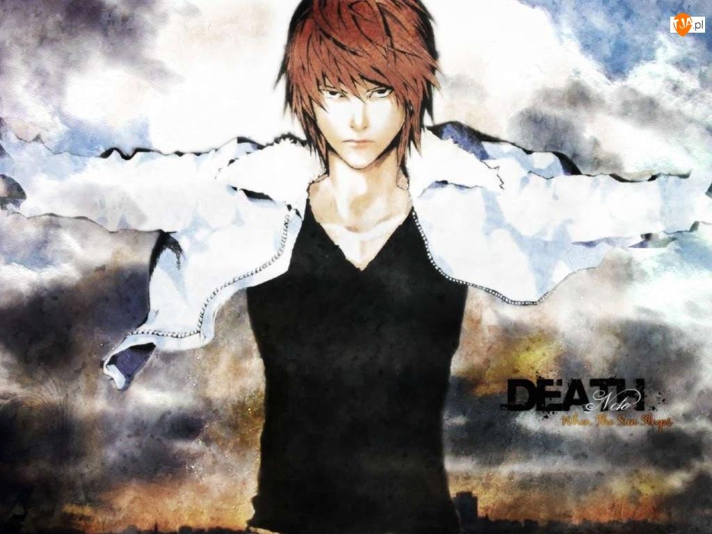 Death Note, napis, kurtka, postać