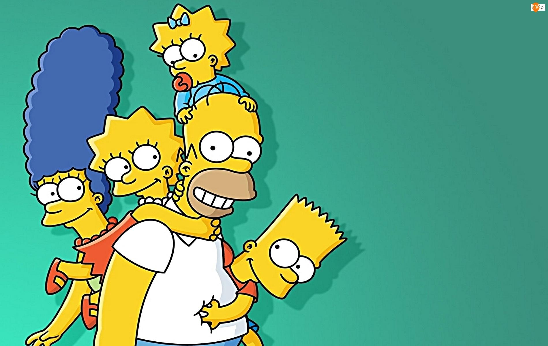 The Simpsons, Homer, Maggie, Simpsonowie, Merge, Lisa, Bart