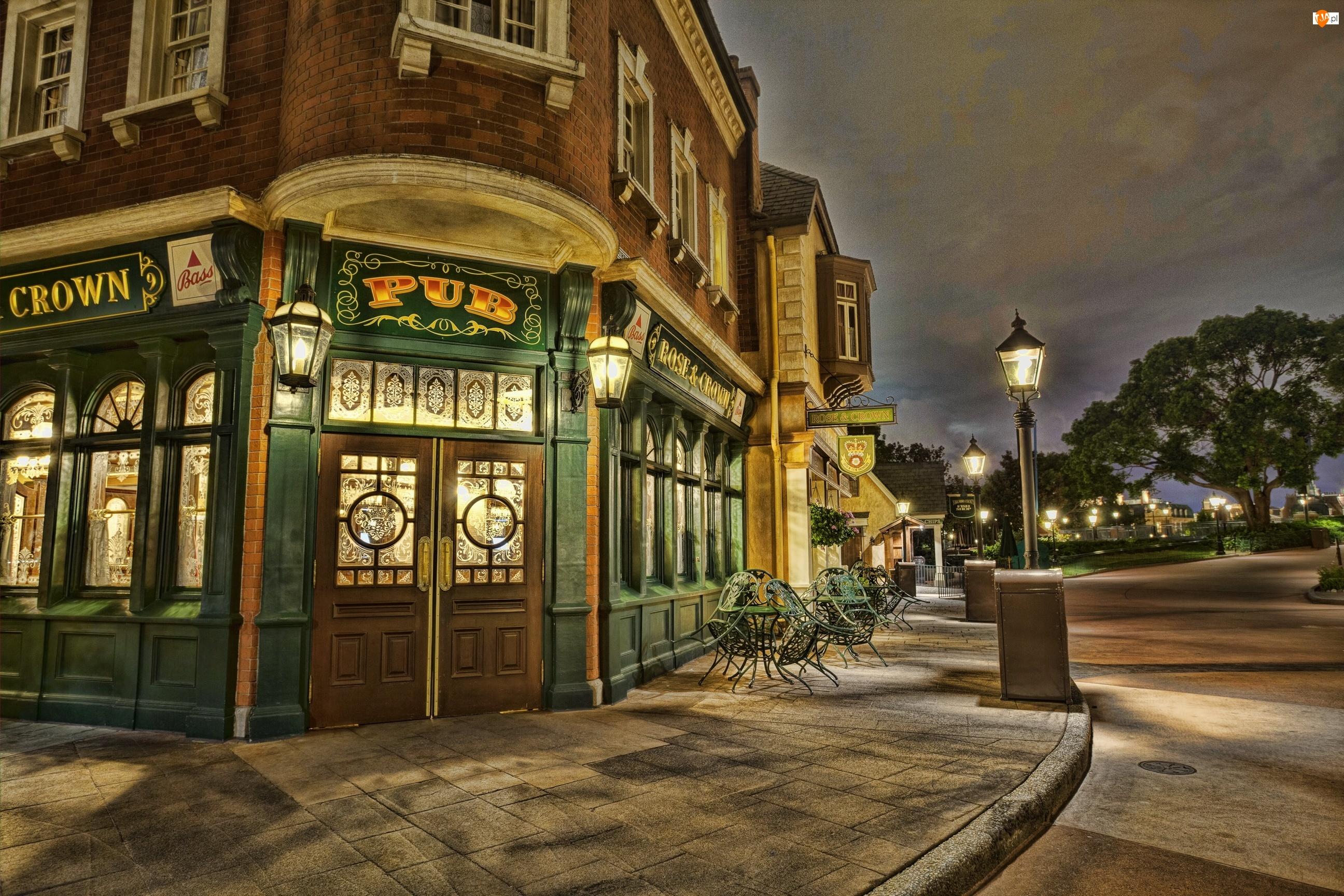 Stany Zjednoczone, Ulica, Floryda, Epcot, Orlando, Bar, Rose and Crown Pub, Dom, Disneyland