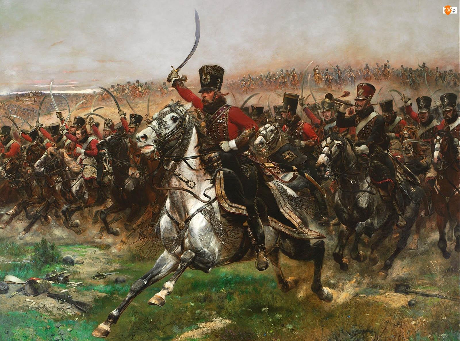Konie, Malarstwo, Jean Baptiste Édouard Detaille, Obraz, Bitwa