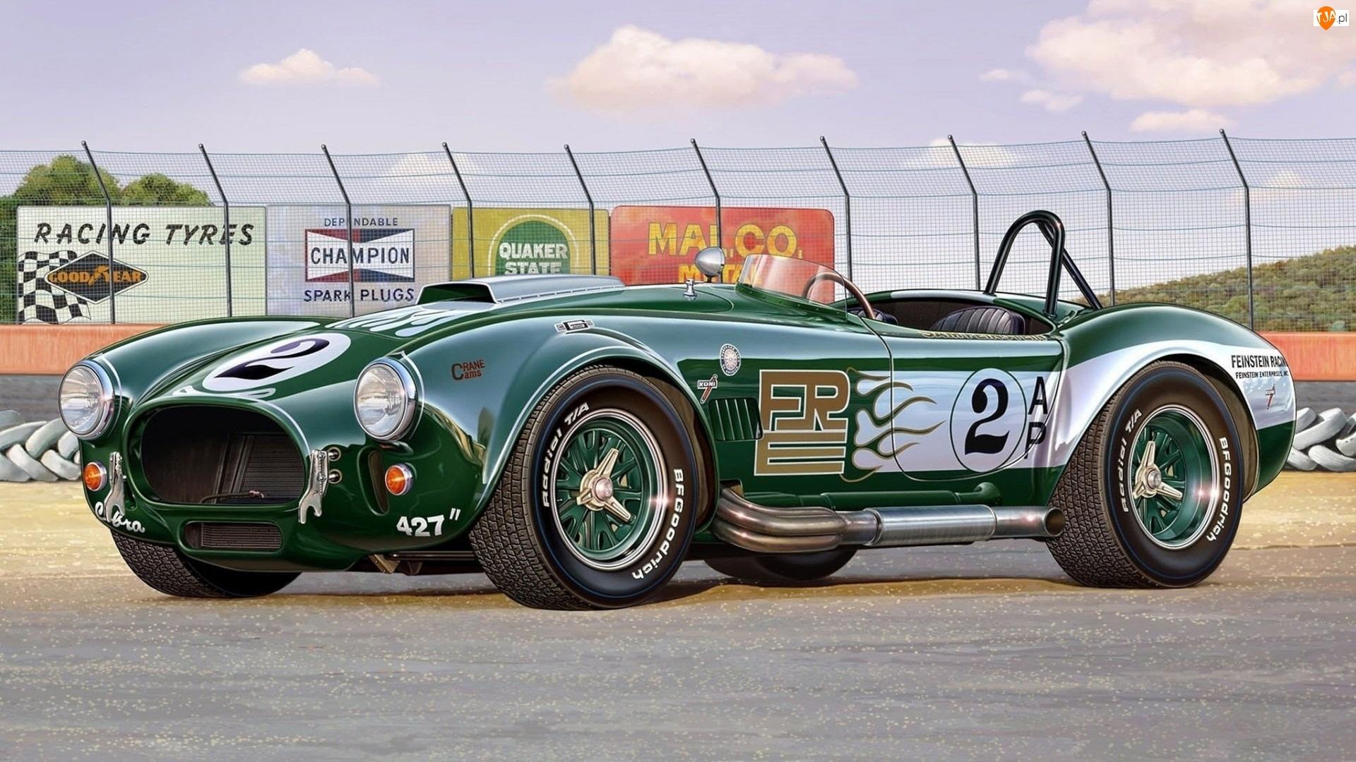 Shelby, Zielone, Cobra, Auto, 427
